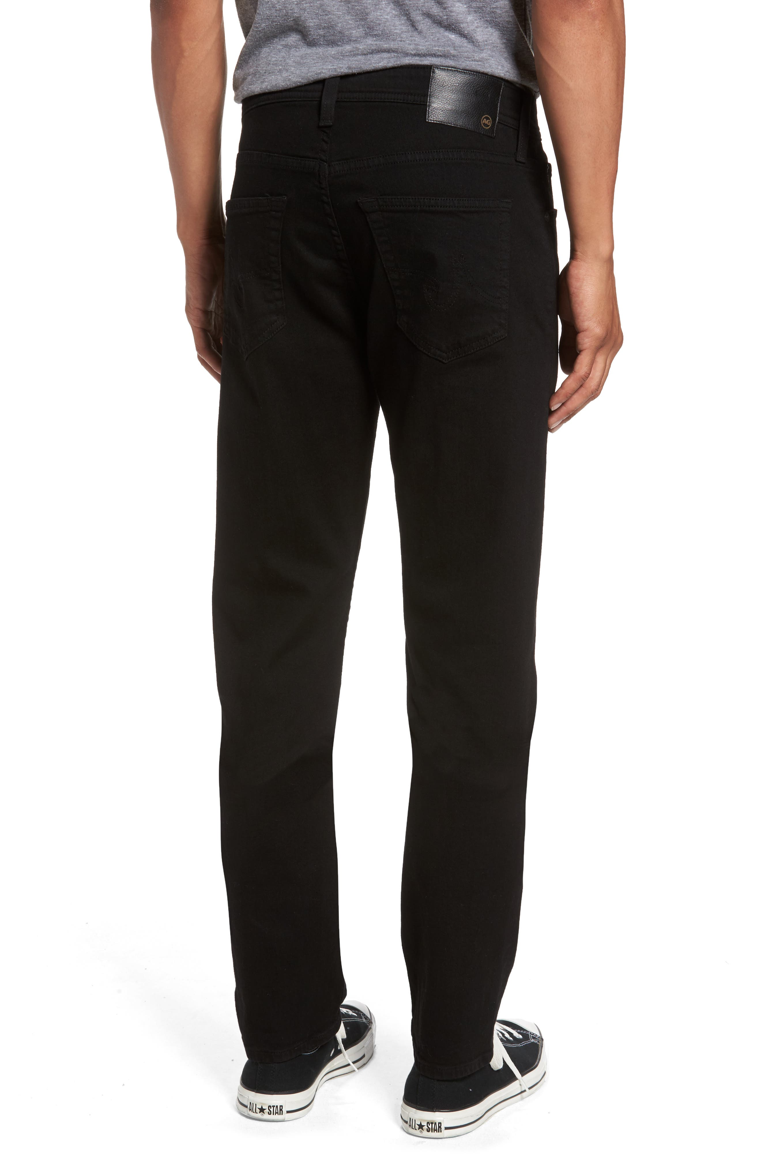 Everett Slim Straight Fit Jeans,                             Alternate thumbnail 2, color,                             Black Soot
