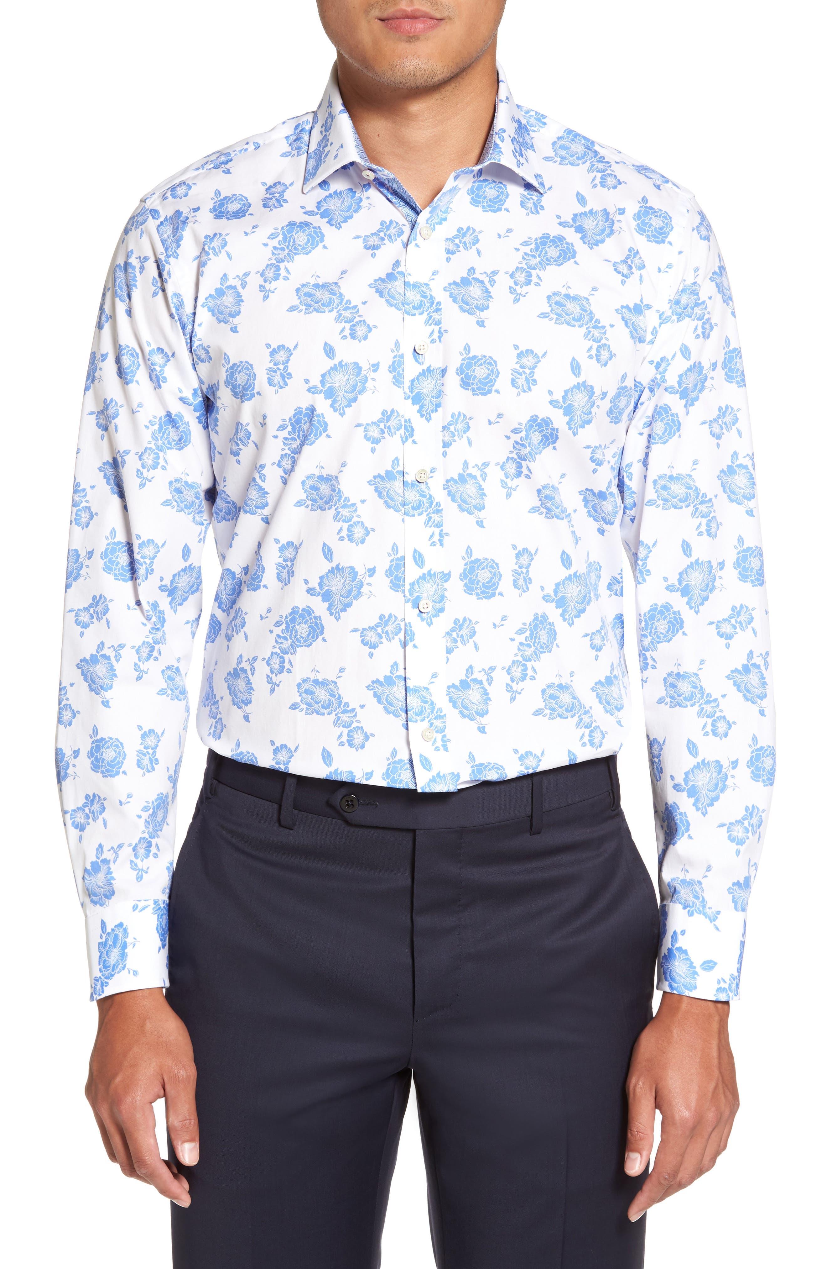 Alternate Image 2  - Ted Baker London Trim Fit Floral Dress Shirt