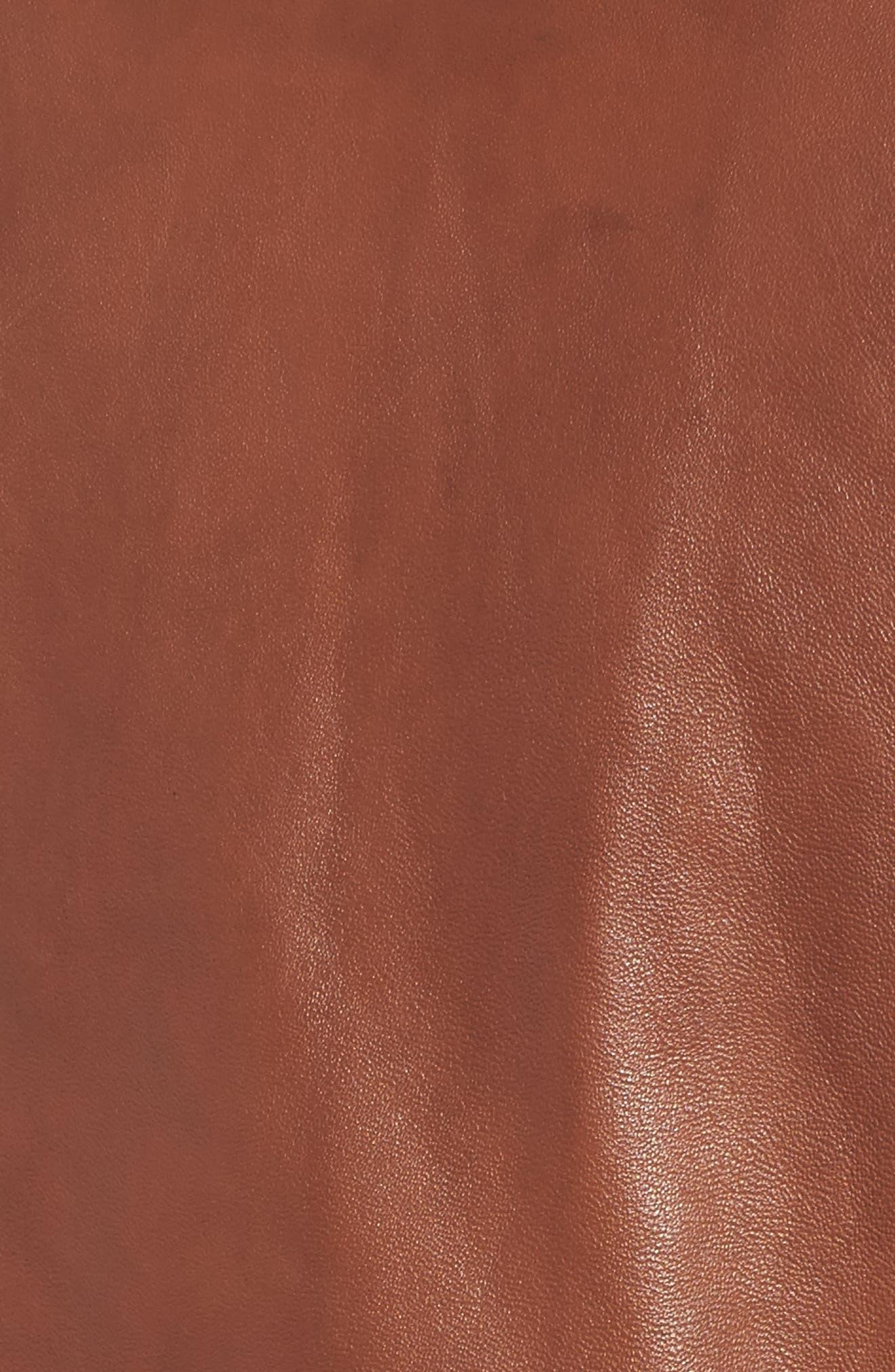 Alternate Image 5  - Guess Collarless Leather Moto Jacket