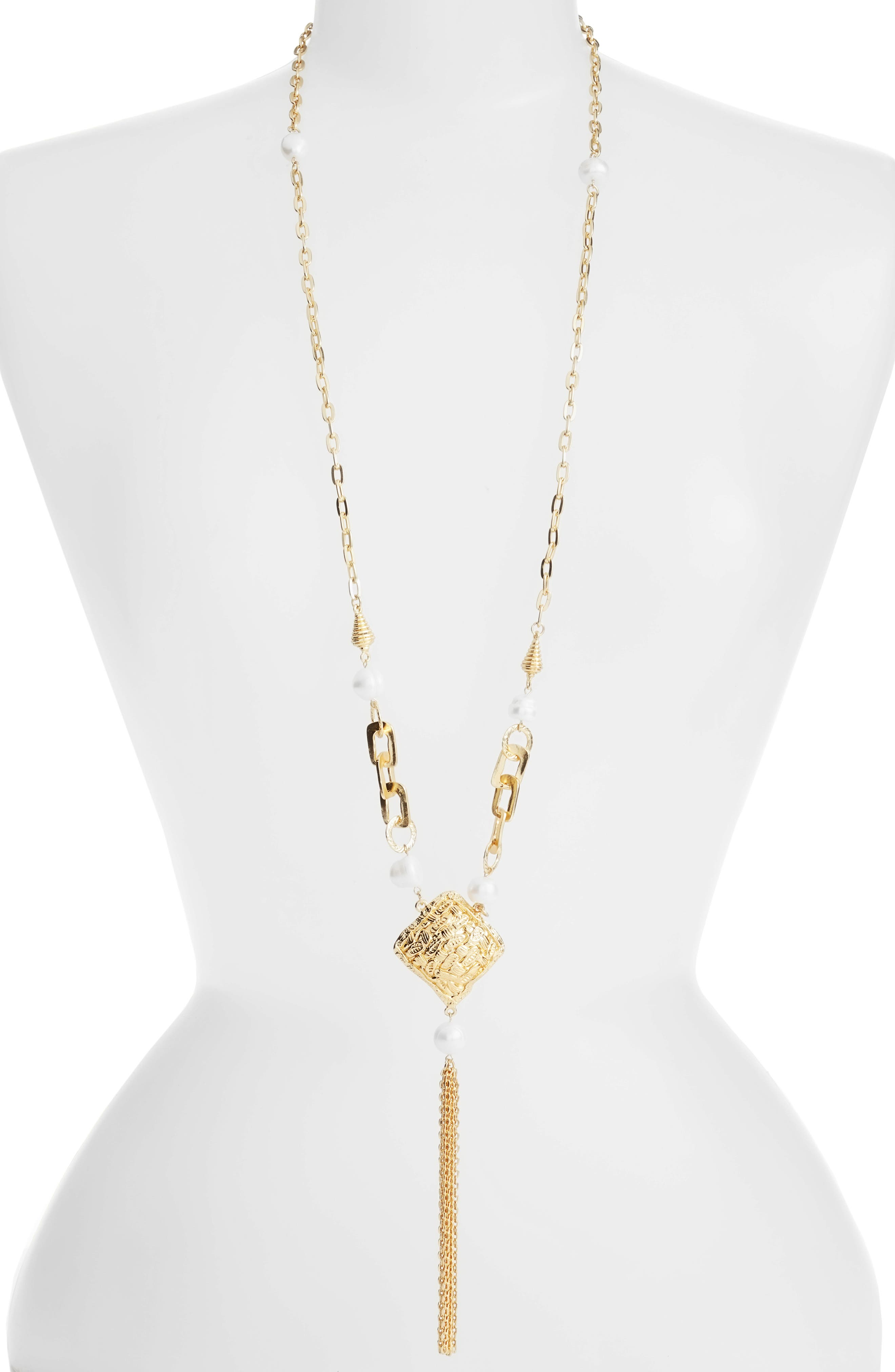 Karine Sultan Long Y-Necklace
