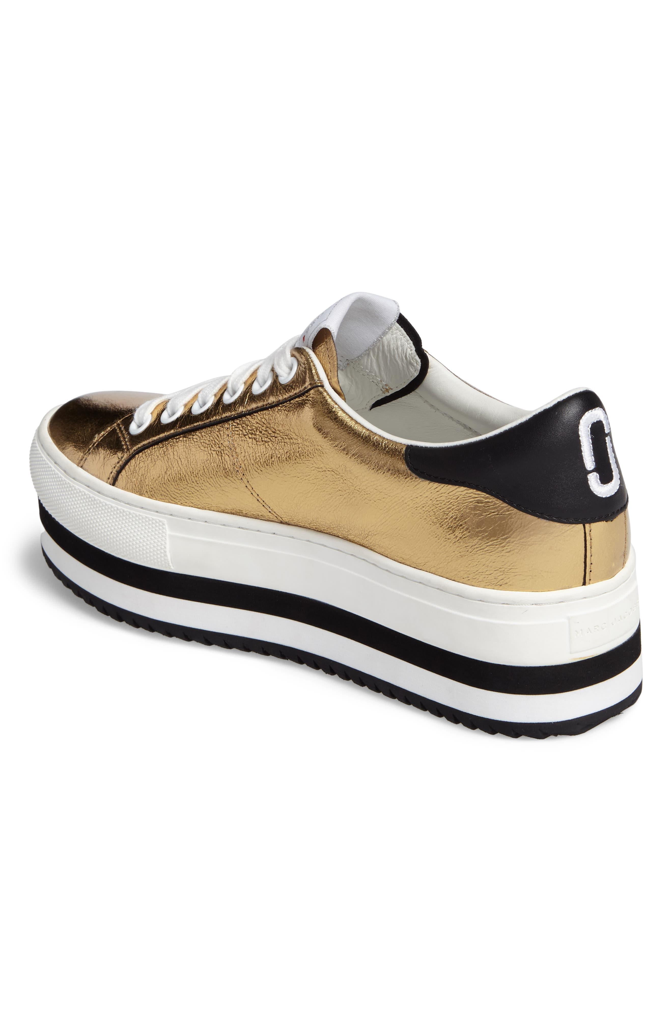 Grand Platform Sneaker,                             Alternate thumbnail 3, color,                             Gold