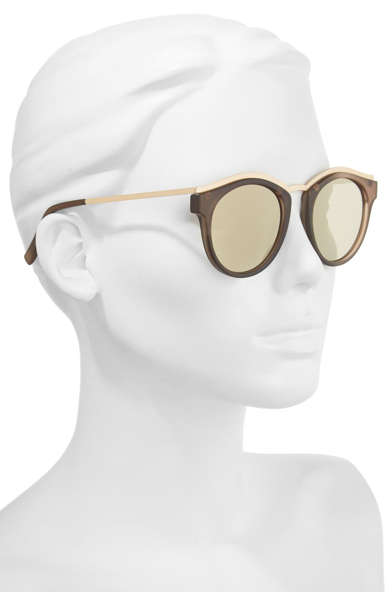 Alternate Image 2  - Le Specs Hypnotize 50mm Round Sunglasses