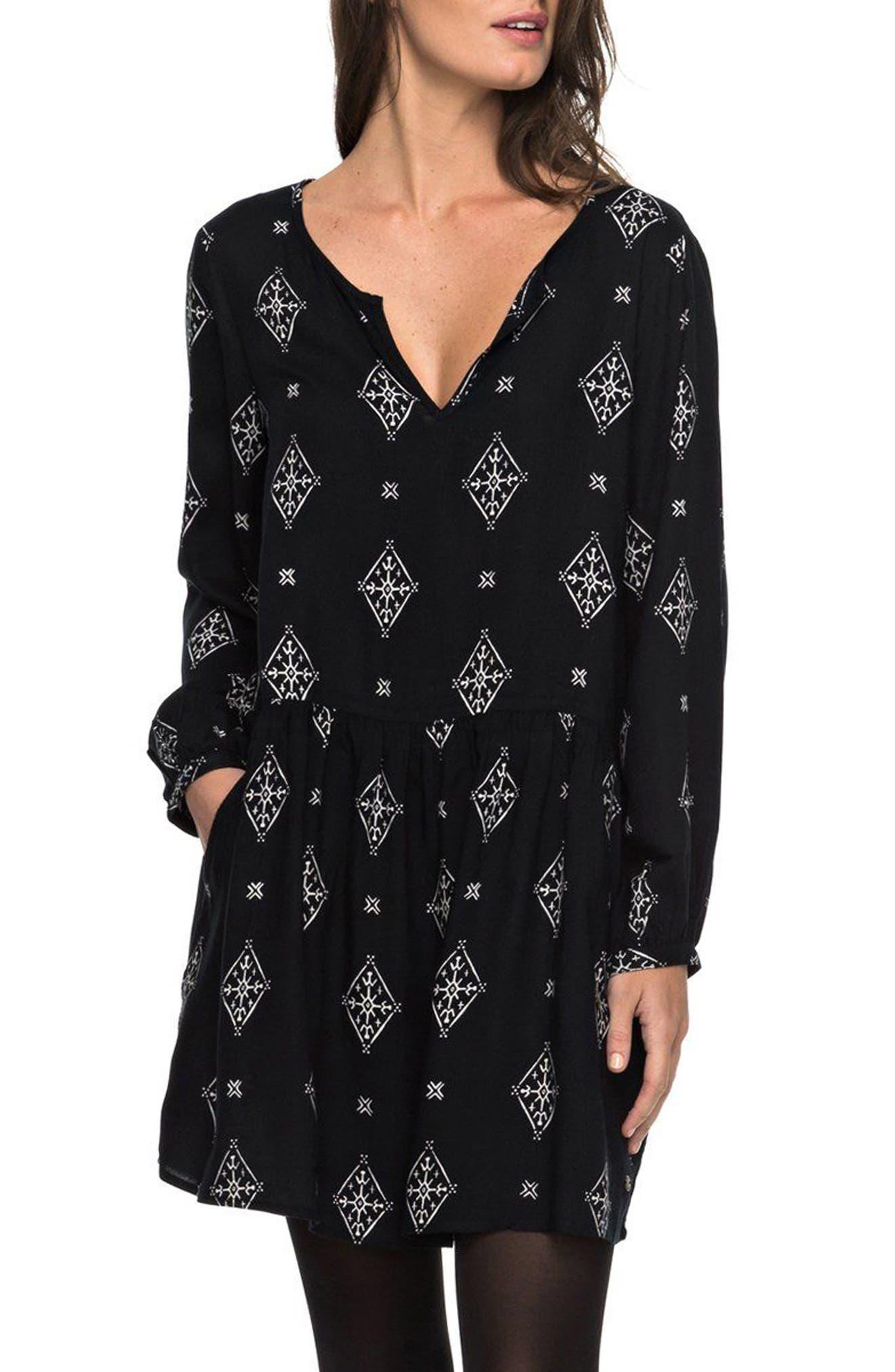 Alternate Image 1 Selected - Roxy Sunkissed Daze Print Swing Dress
