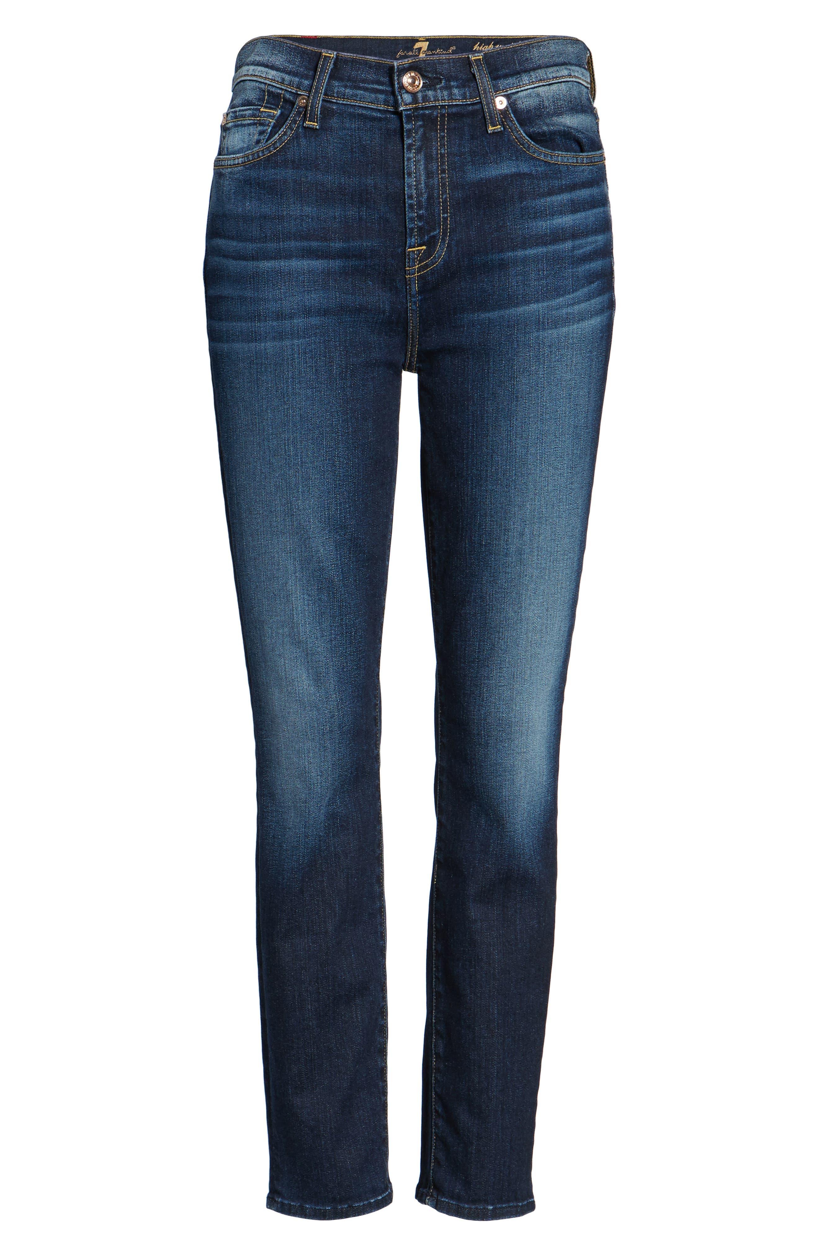 Seven7 Roxanne High Waist Ankle Jeans,                             Alternate thumbnail 6, color,                             Aggressive Madison Ave