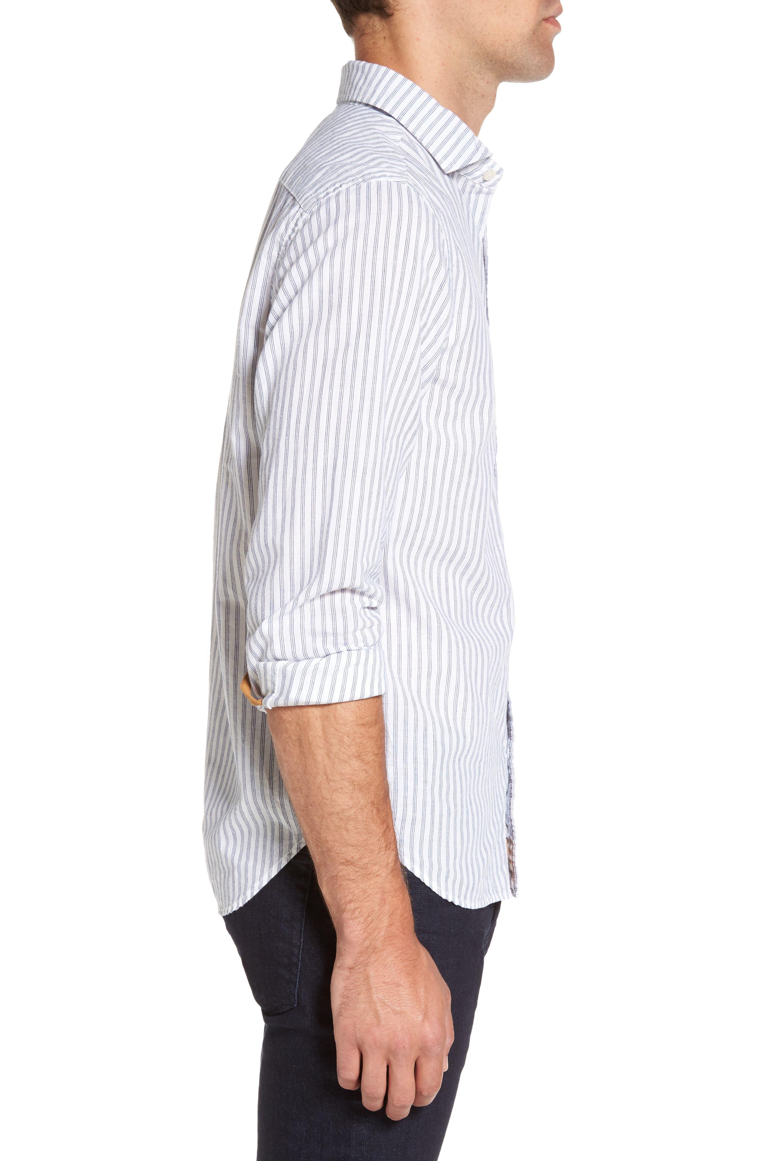 Alternate Image 3  - Nifty Genius Earnest Stripe Sport Shirt