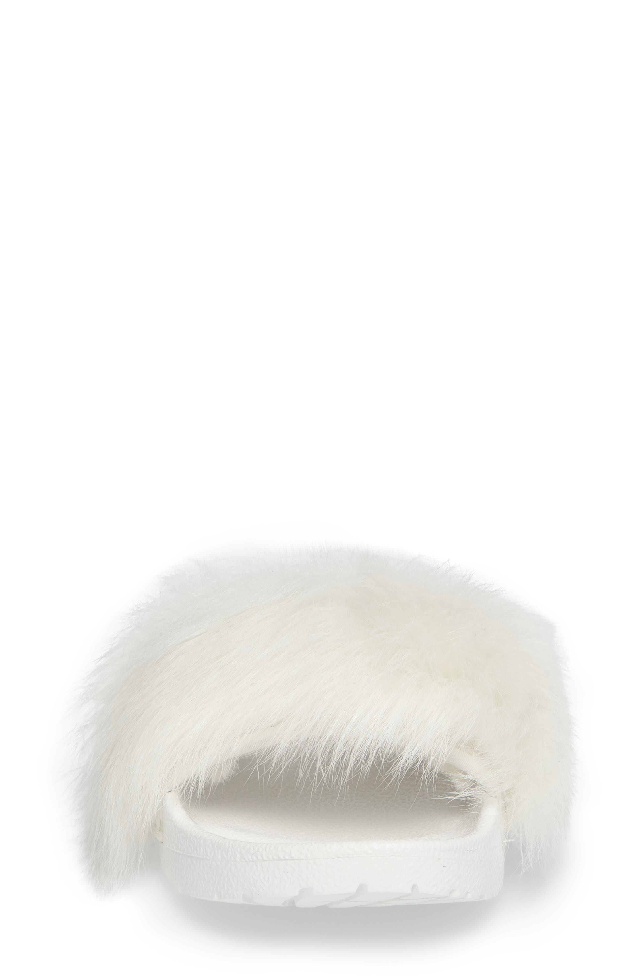 Alternate Image 4  - UGG® Royale Genuine Shearling Slide Sandal (Women)