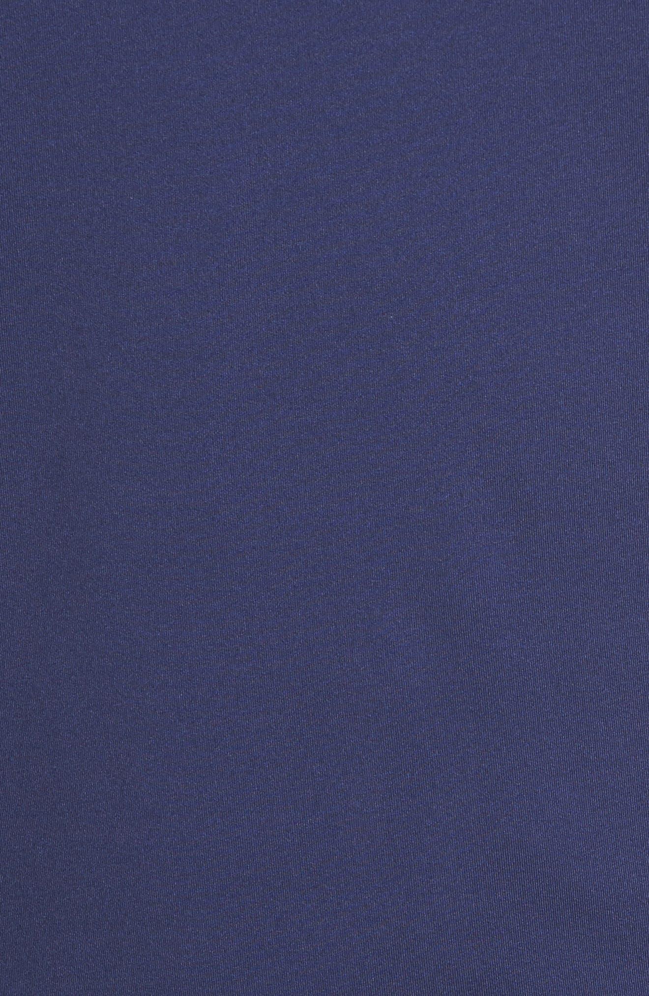Flex Classic Fit Quarter Zip Pullover,                             Alternate thumbnail 5, color,                             Twilight