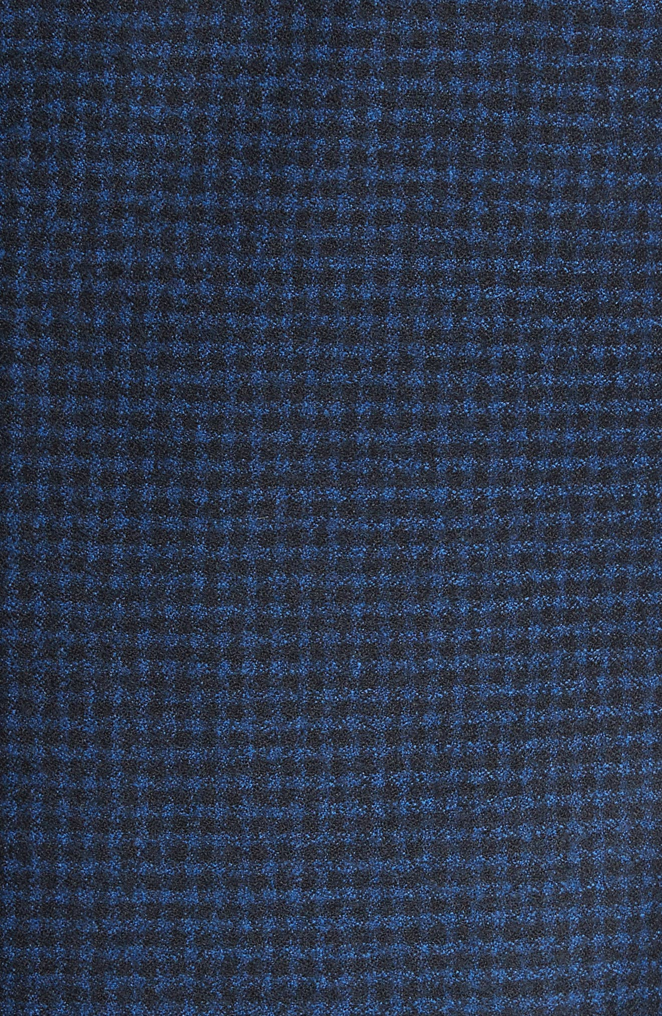G-Line Trim Fit Check Wool Sport Coat,                             Alternate thumbnail 4, color,                             Navy