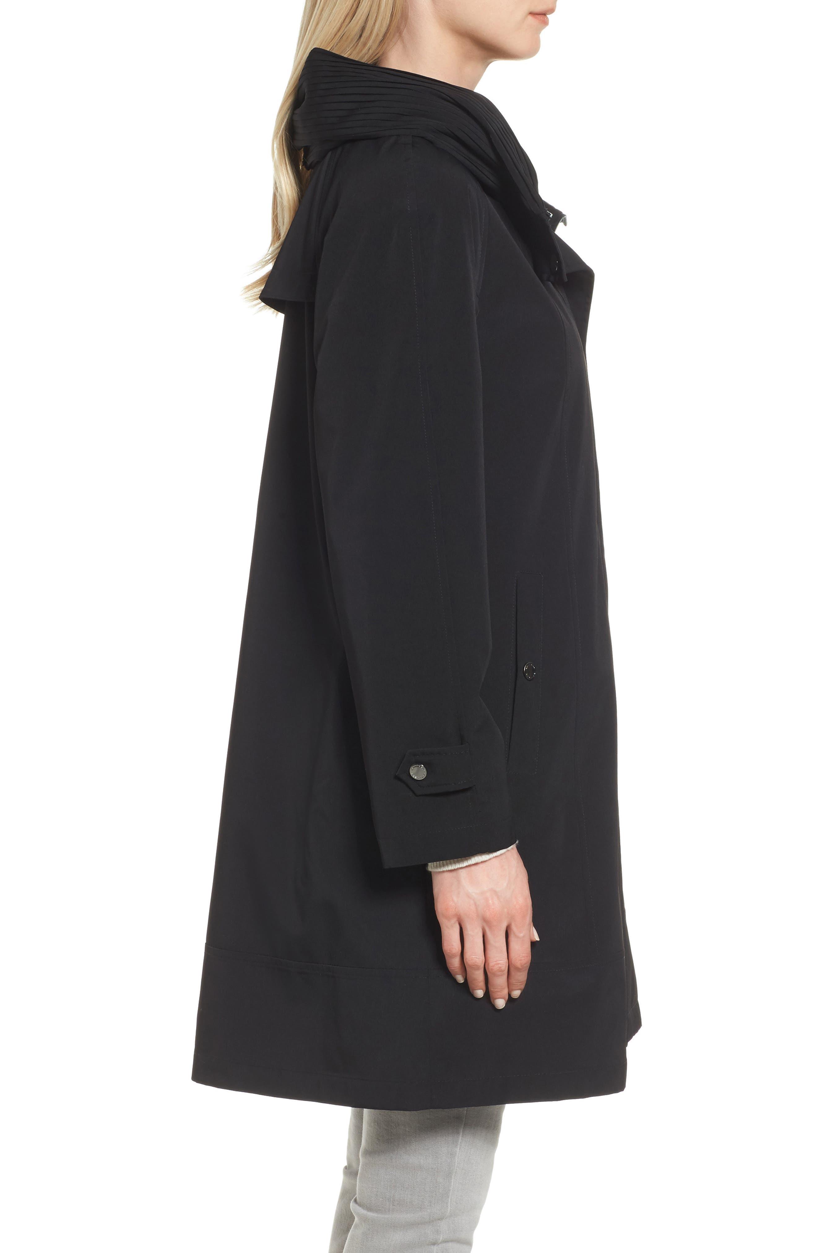 Alternate Image 3  - Gallery A-Line Raincoat (Regular & Petite)