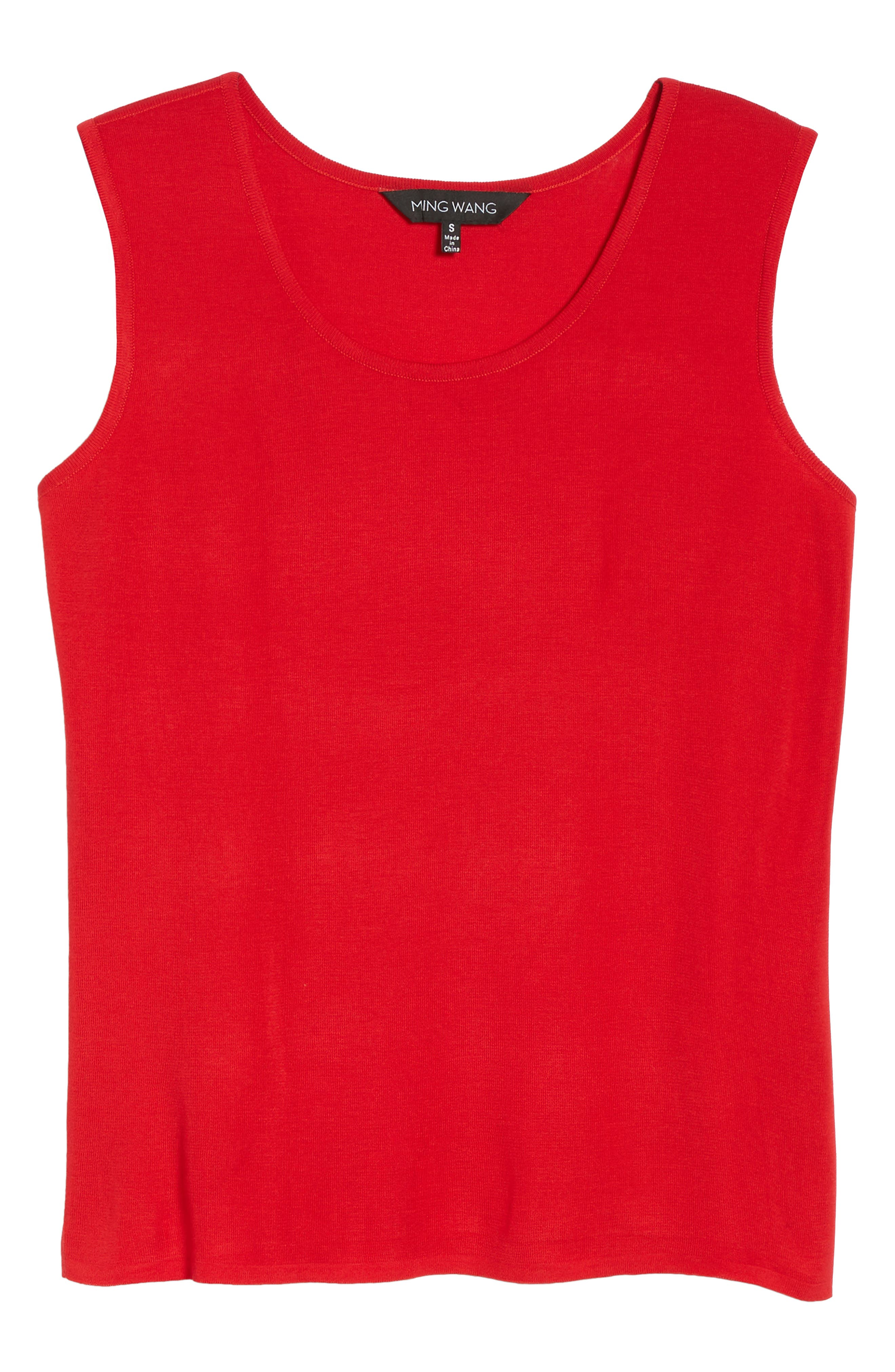 Alternate Image 6  - Ming Wang Scoop Neck Knit Tank