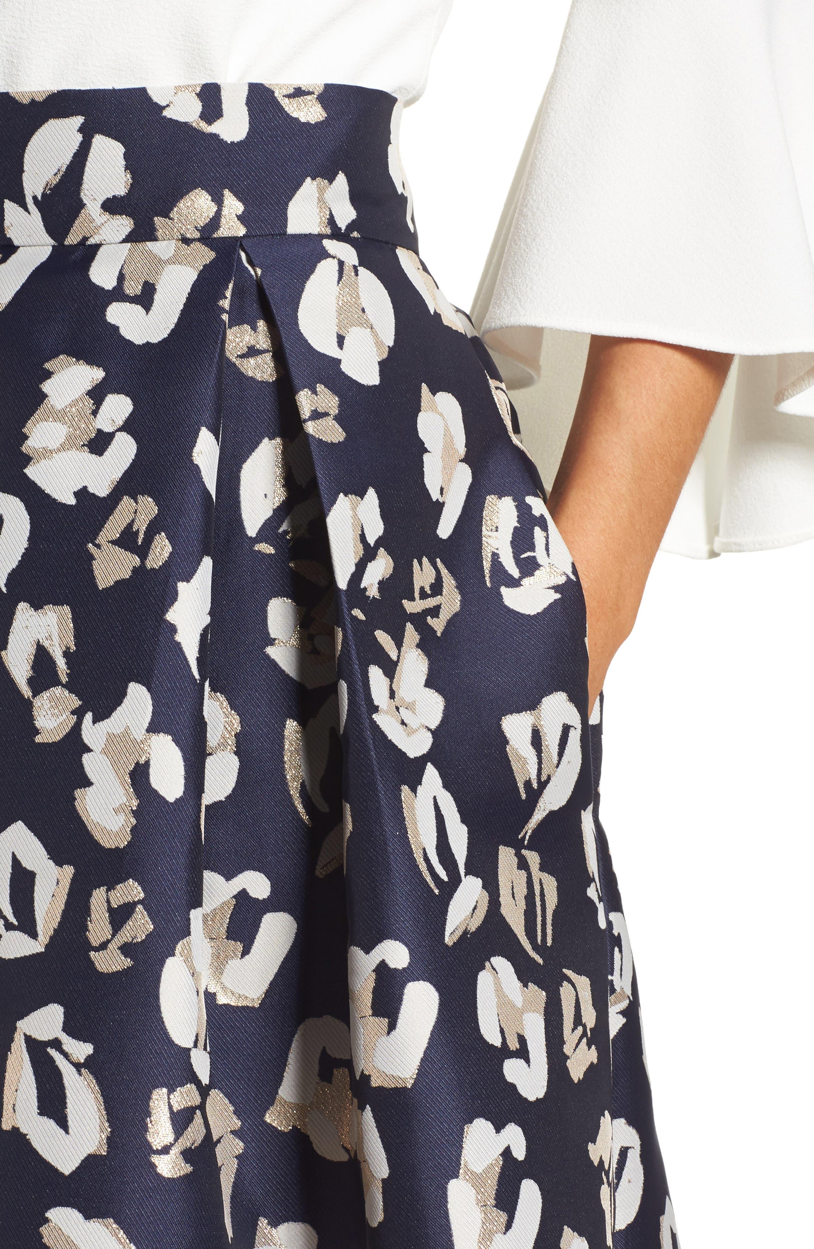 Alternate Image 5  - Eliza J Pleated Abstract Jacquard Skirt