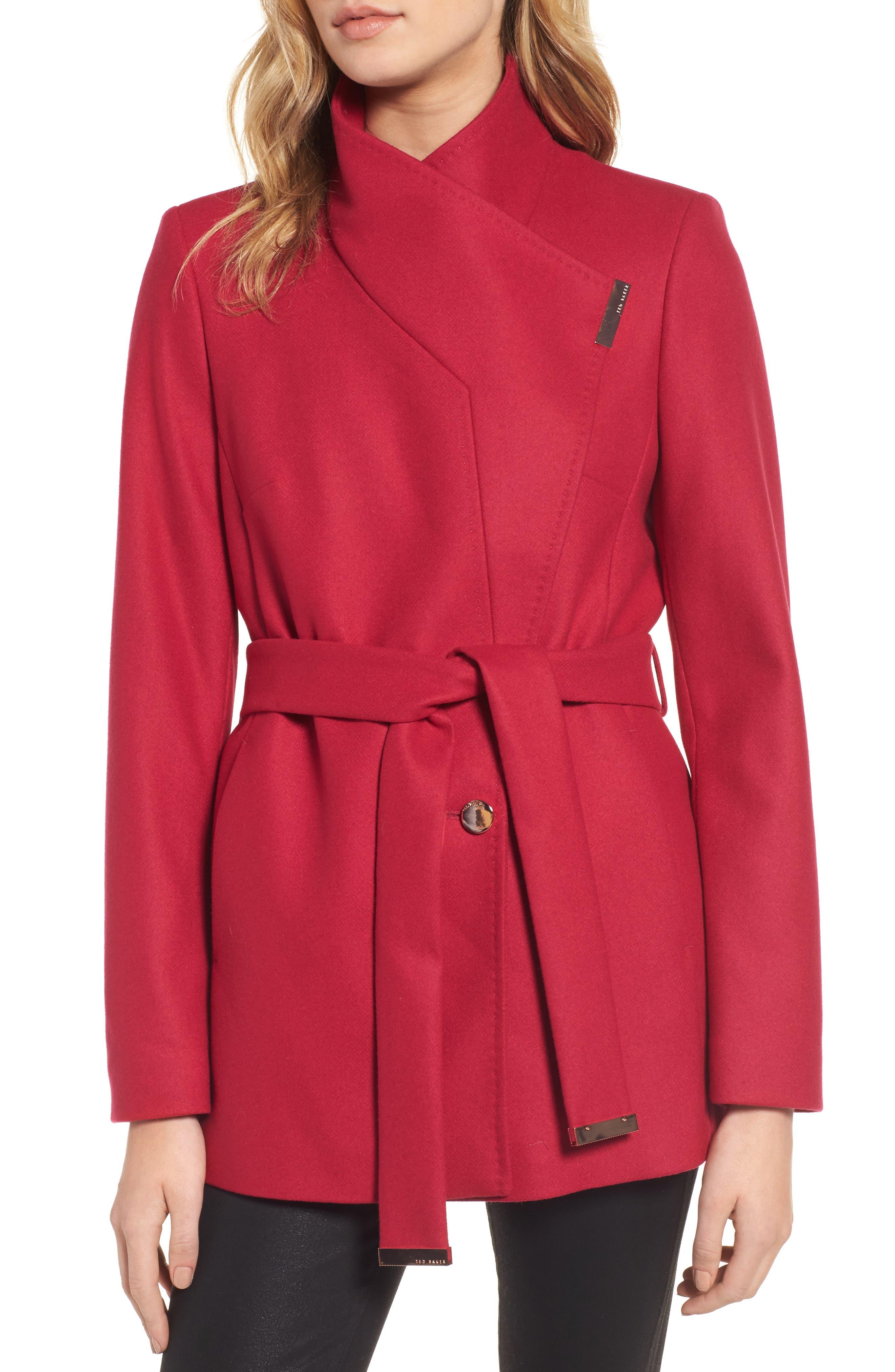 Alternate Image 4  - Ted Baker London Wool Blend Short Wrap Coat