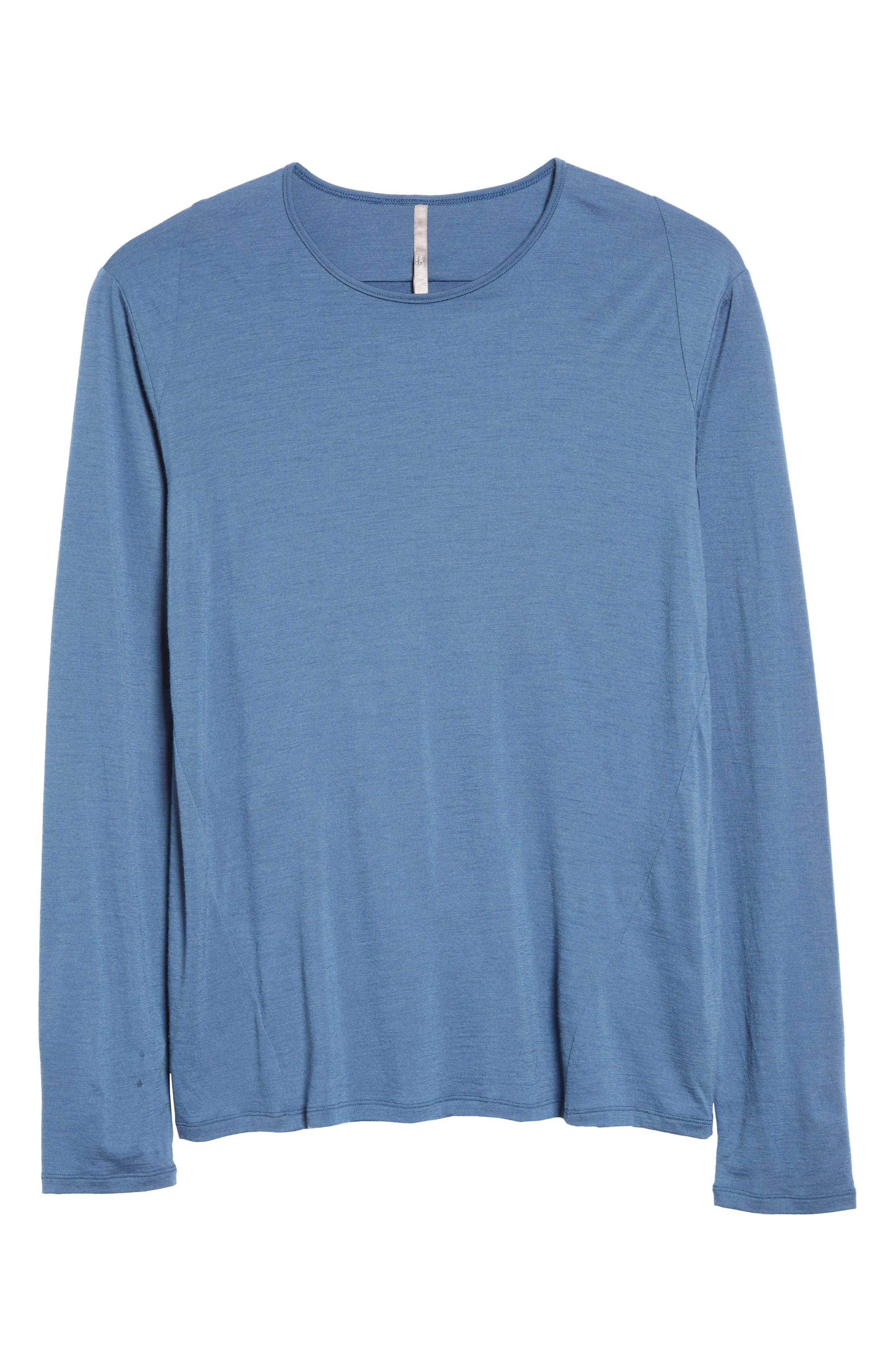Frame Merino Wool T-Shirt,                             Alternate thumbnail 6, color,                             Navy