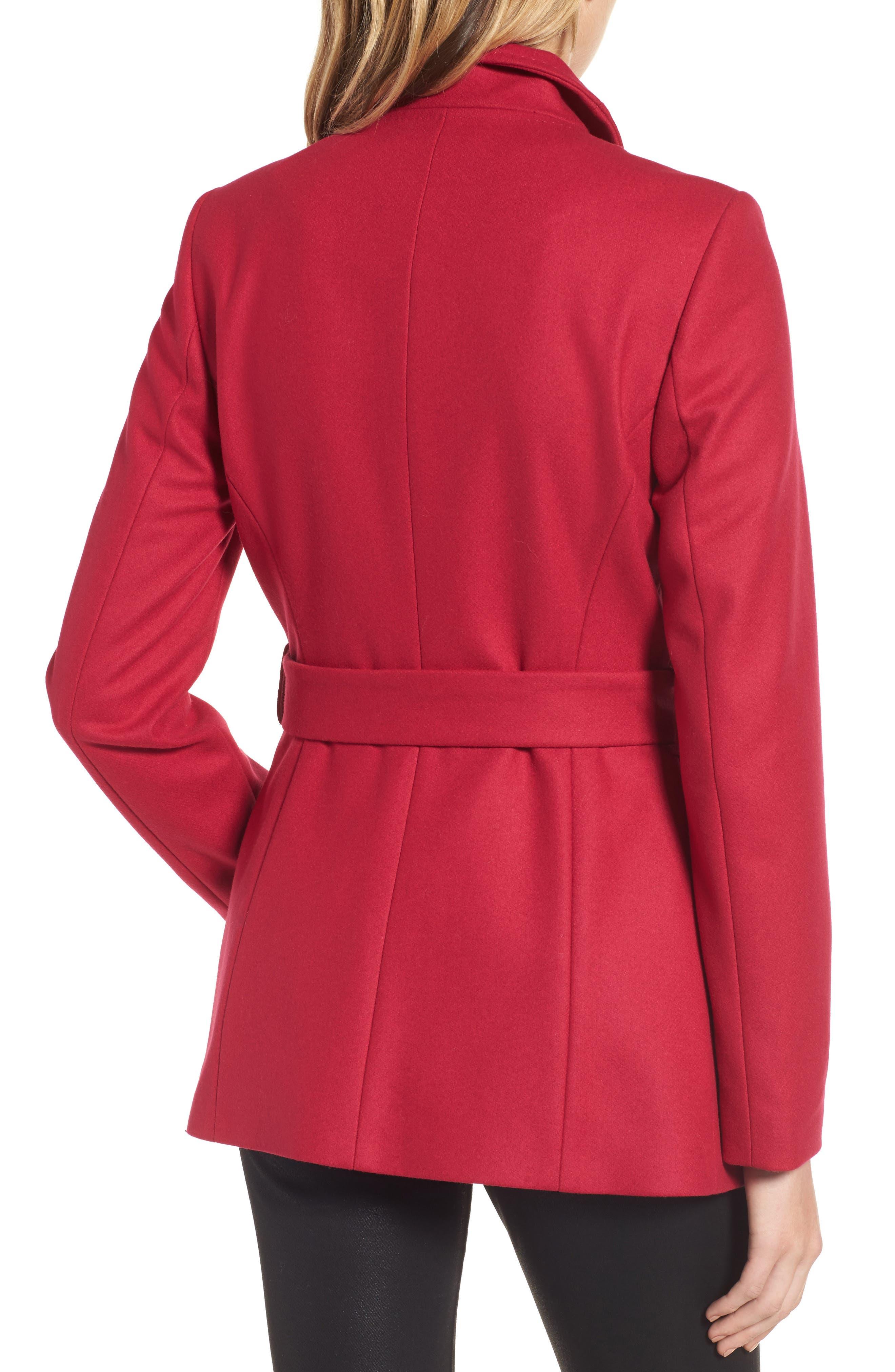 Alternate Image 2  - Ted Baker London Wool Blend Short Wrap Coat