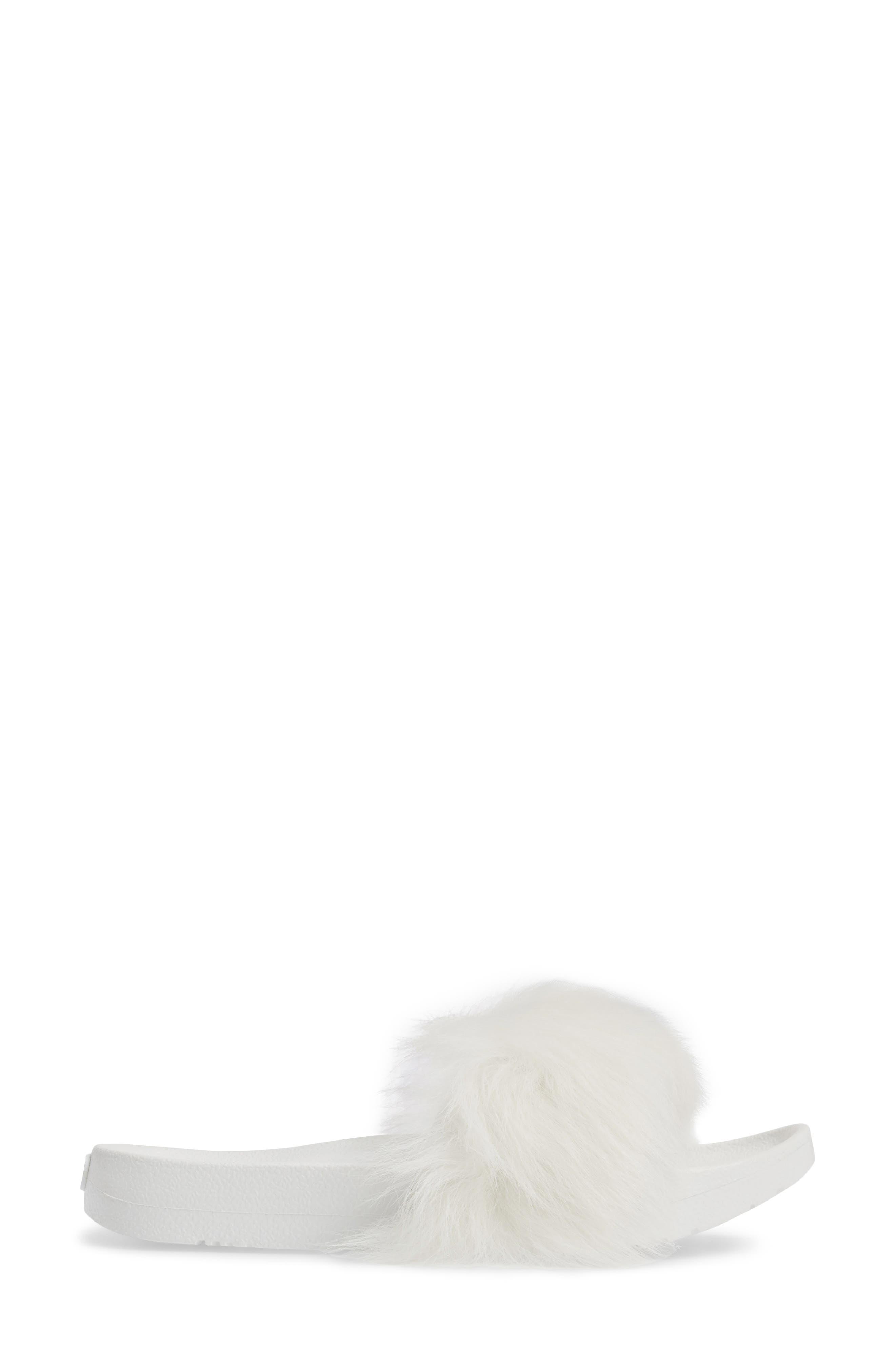 Alternate Image 3  - UGG® Royale Genuine Shearling Slide Sandal (Women)