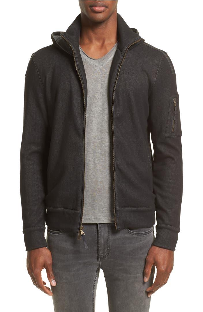 John varvatos collection denim zip hoodie nordstrom for Housse zip collection captur