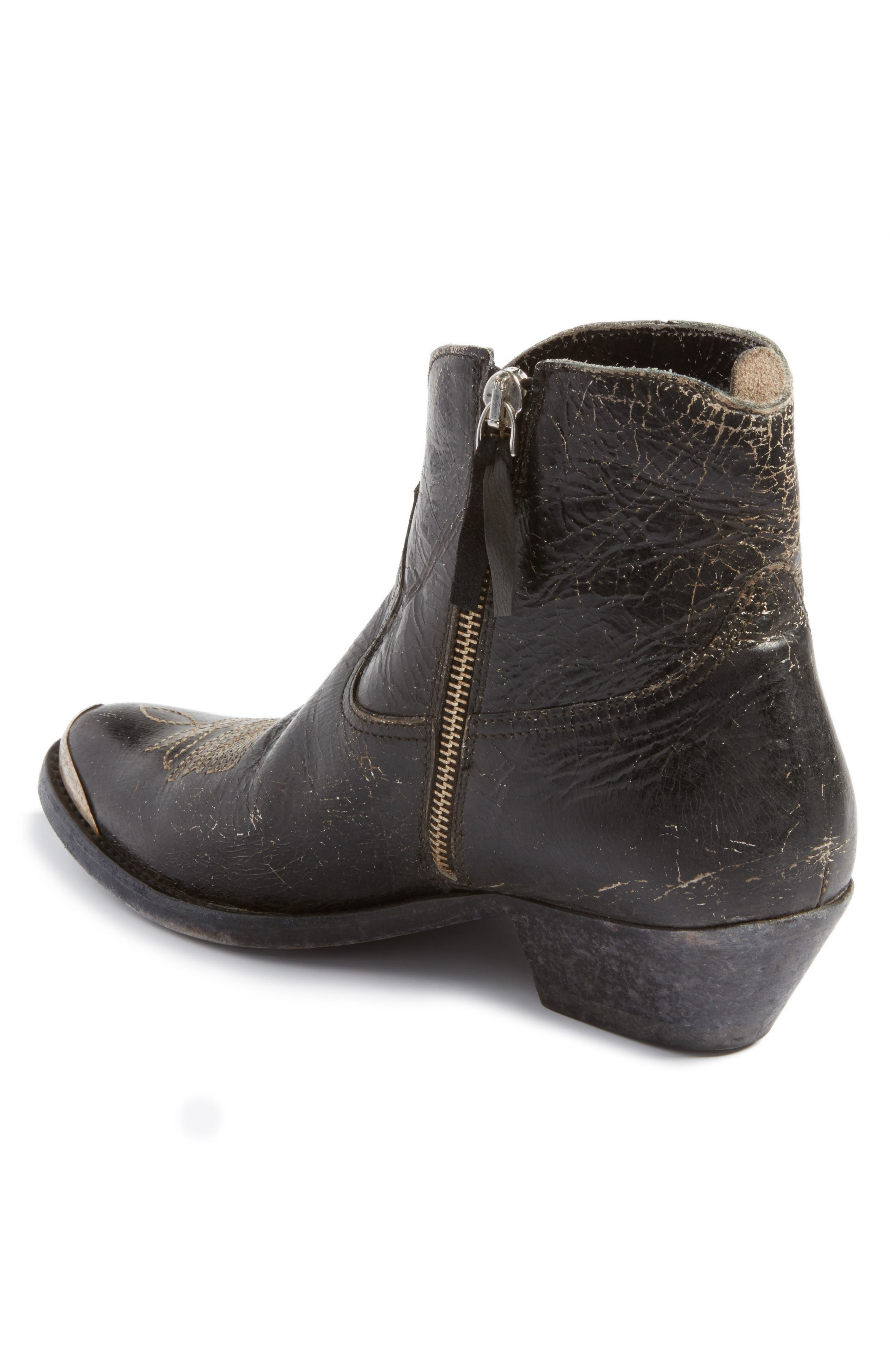 Young Western Boot,                             Alternate thumbnail 2, color,                             Black