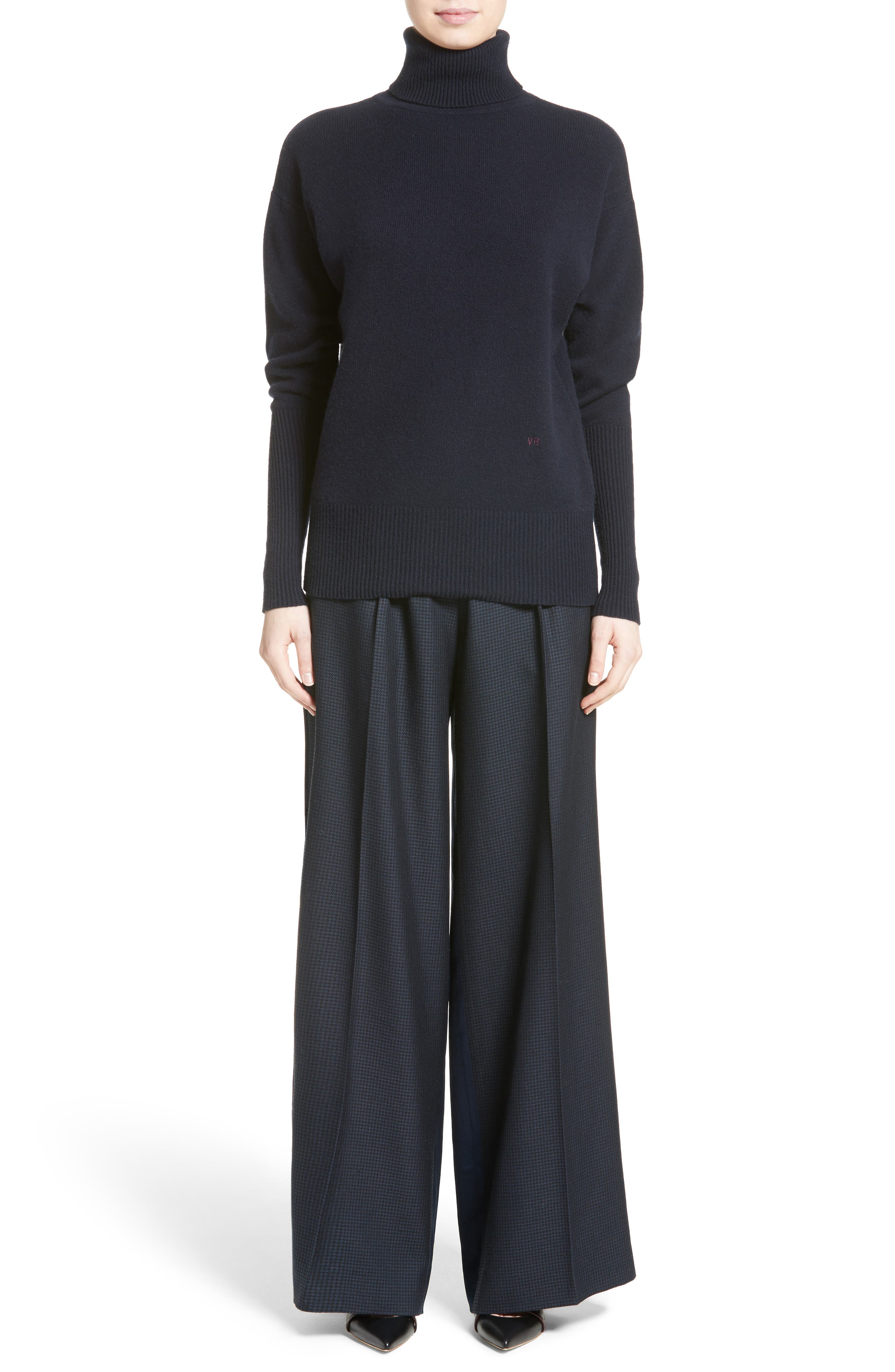 Alternate Image 8  - Victoria Beckham Cashmere Turtleneck Sweater