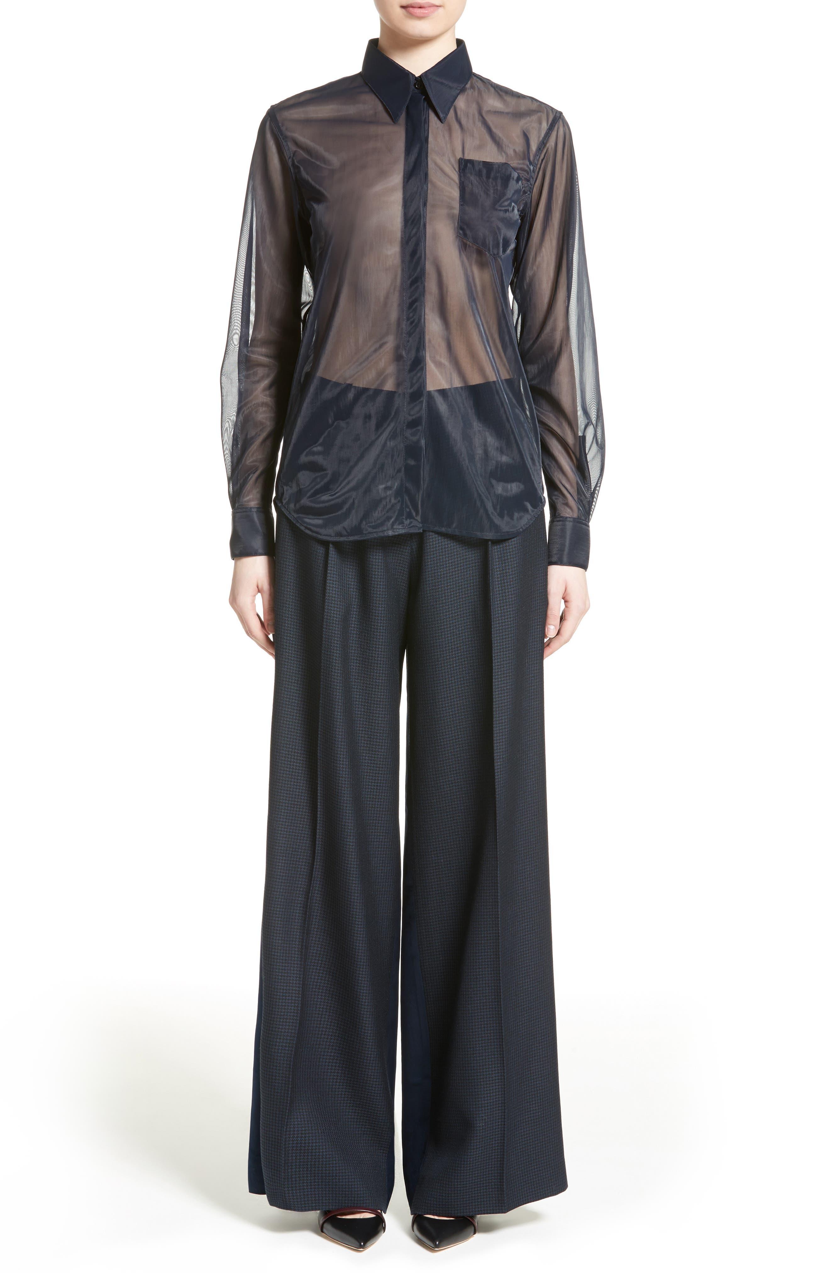 Alternate Image 6  - Victoria Beckham Houndstooth Wide Leg Pants