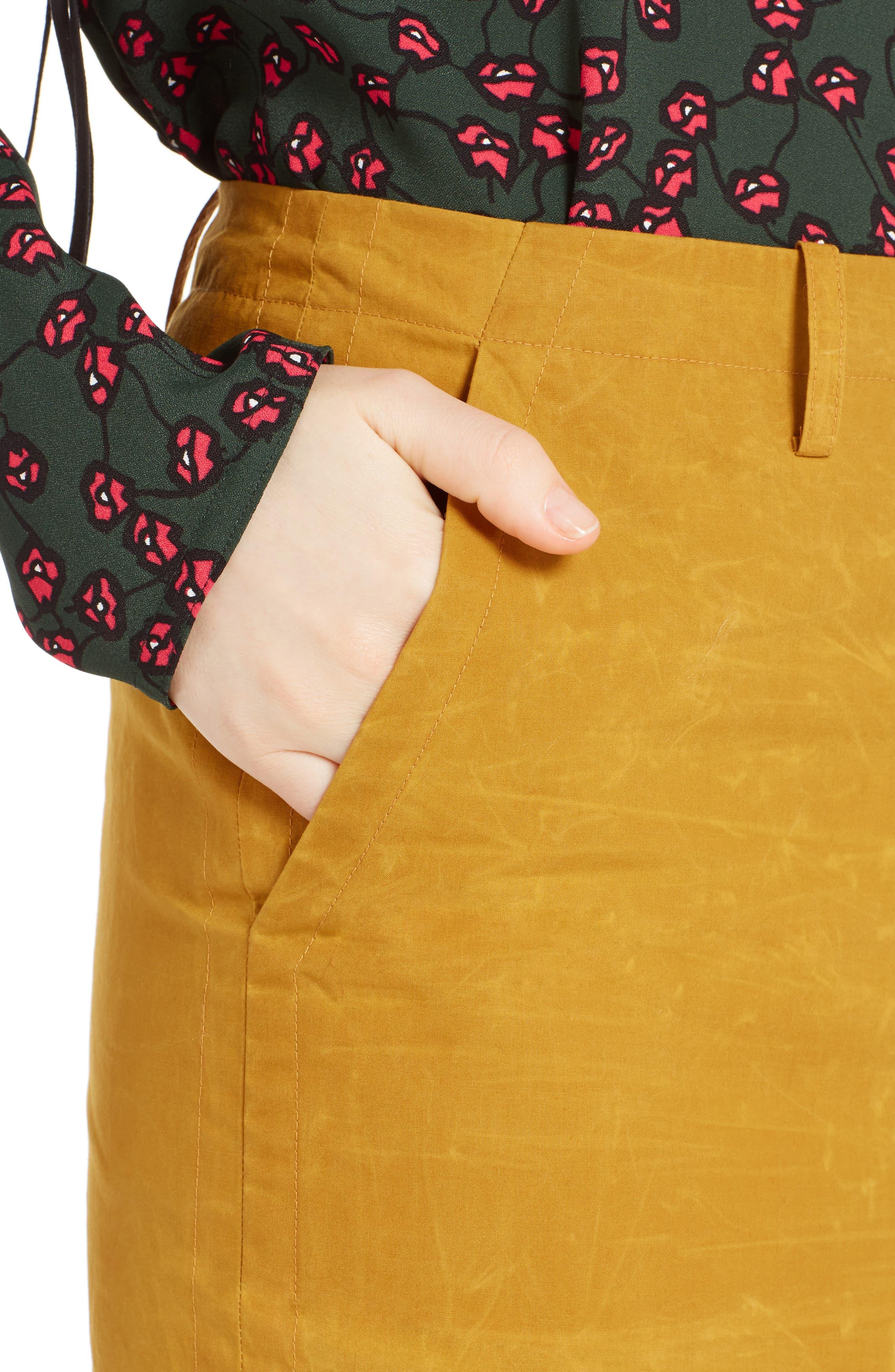 Alternate Image 4  - Marni Waxed Cotton Pencil Skirt