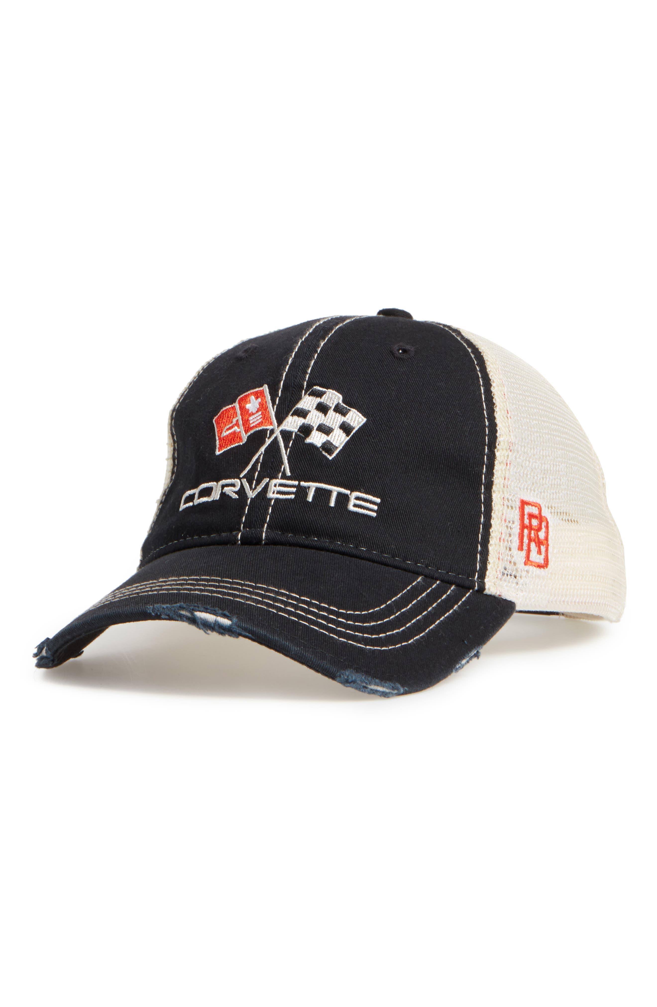 Original Retro Brand Corvette Flags Trucker Hat