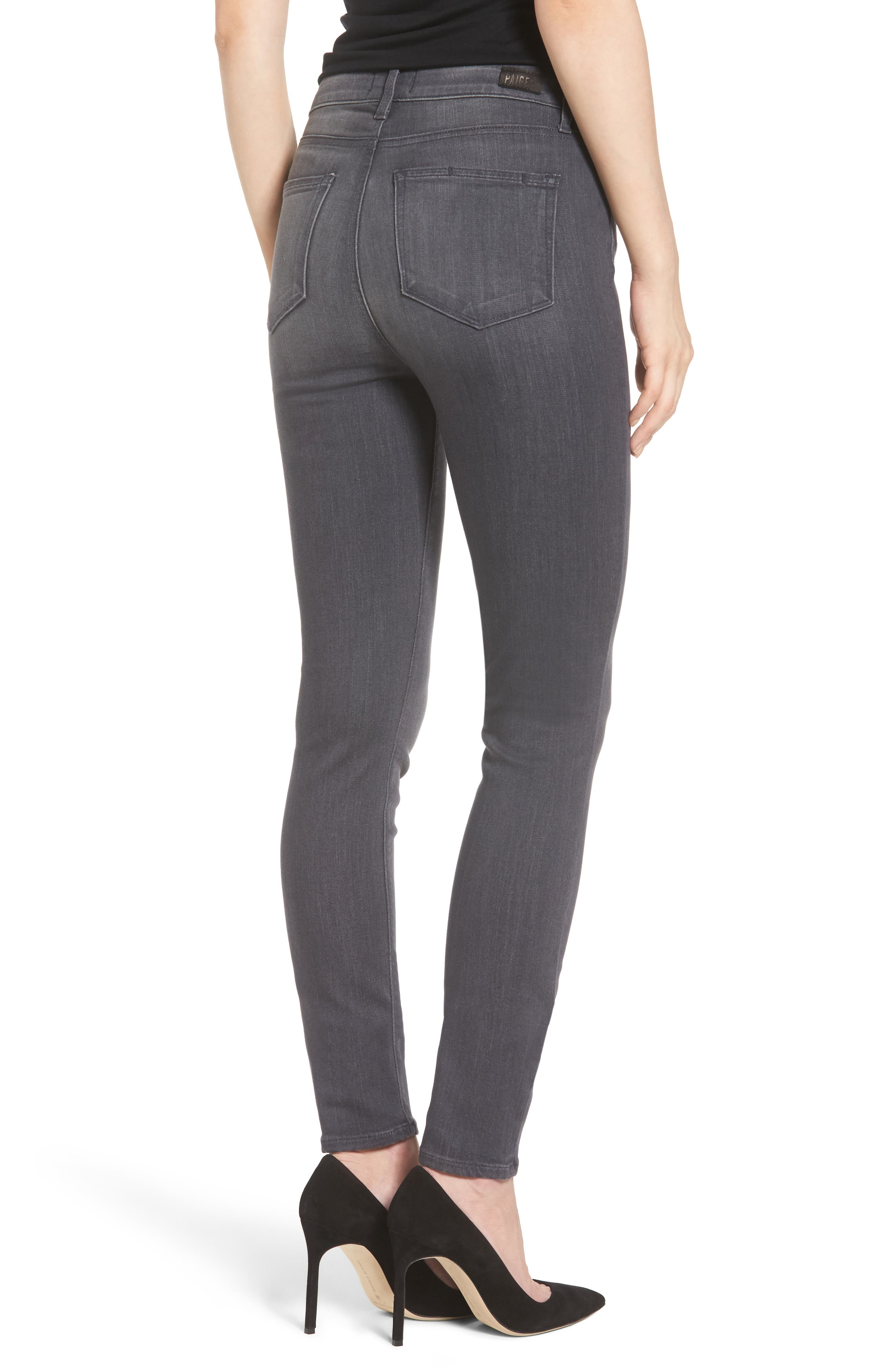 Alternate Image 2  - PAIGE Transcend - Hoxton High Waist Ultra Skinny Jeans (Summit Grey)