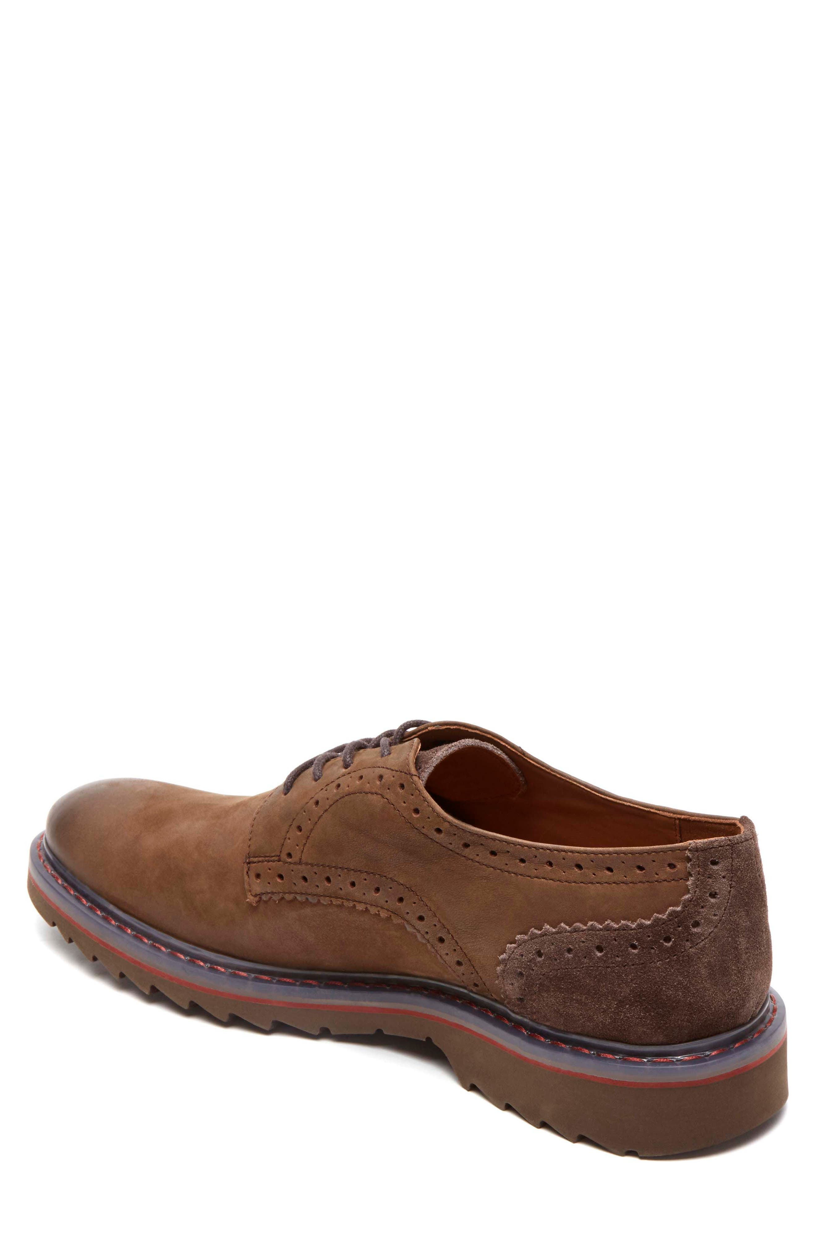 Jaxson Plain Toe Derby,                             Alternate thumbnail 2, color,                             Brown Leather