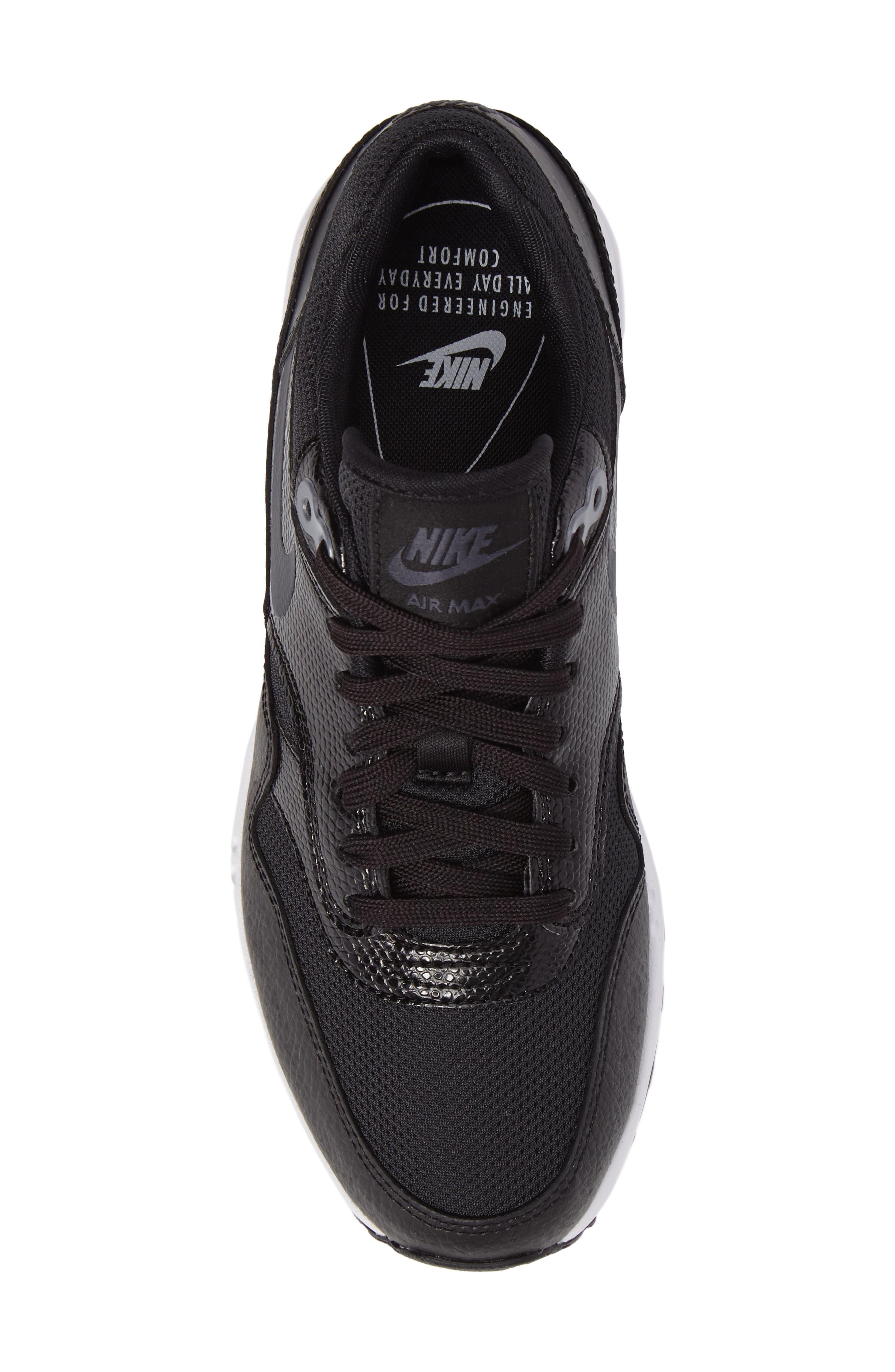 Air Max 1 Ultra 2.0 Running Shoe,                             Alternate thumbnail 5, color,                             Hematite/ Black/ White
