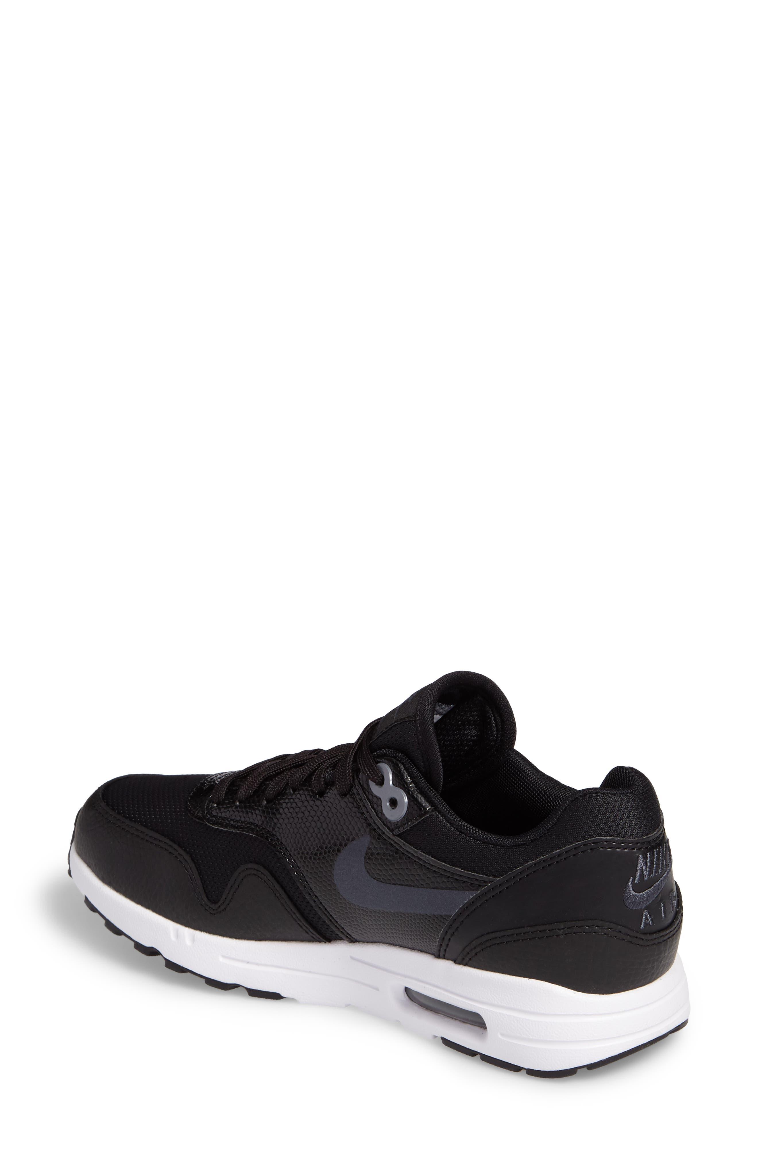 Air Max 1 Ultra 2.0 Running Shoe,                             Alternate thumbnail 2, color,                             Hematite/ Black/ White