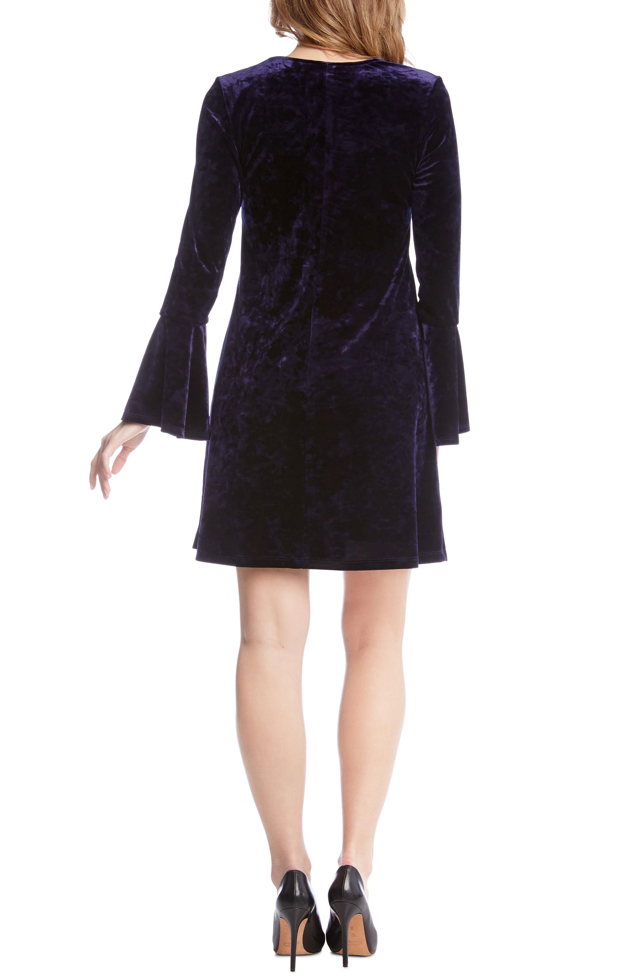 Alternate Image 3  - Karen Kane Bell Sleeve Velvet Dress