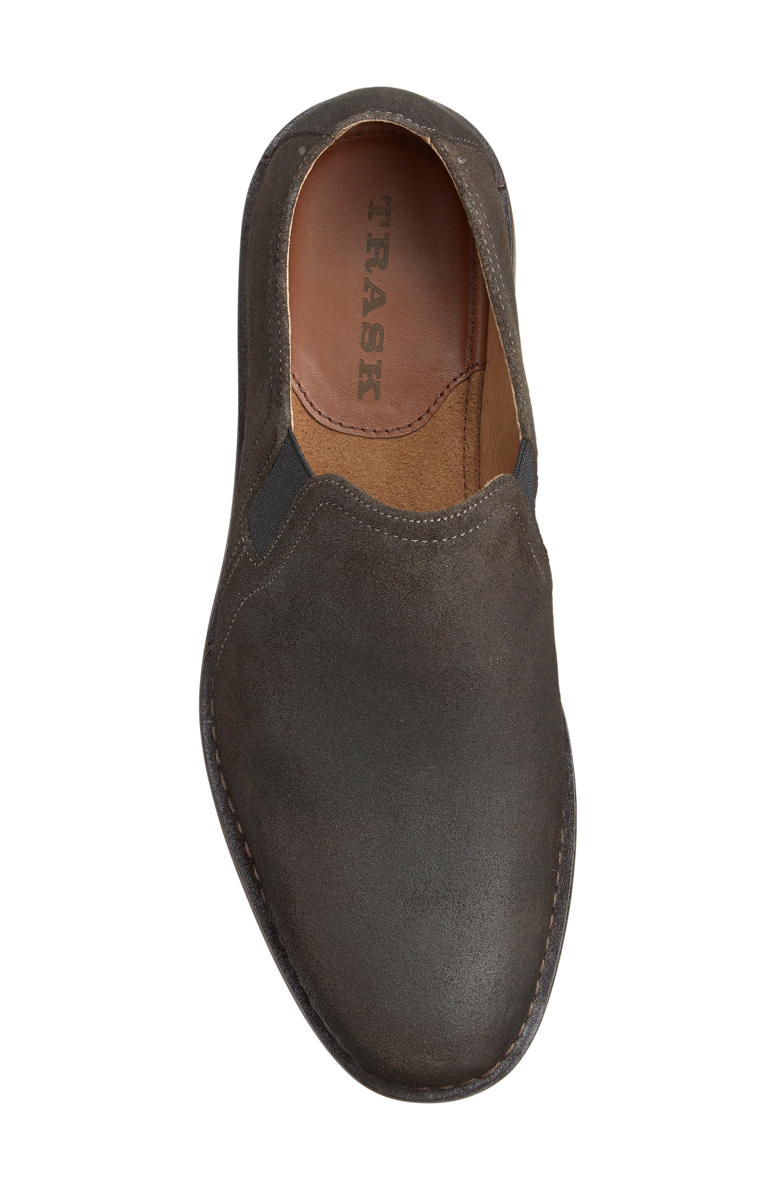 'Blaine' Venetian Loafer,                             Alternate thumbnail 3, color,                             Gray Waxed Suede