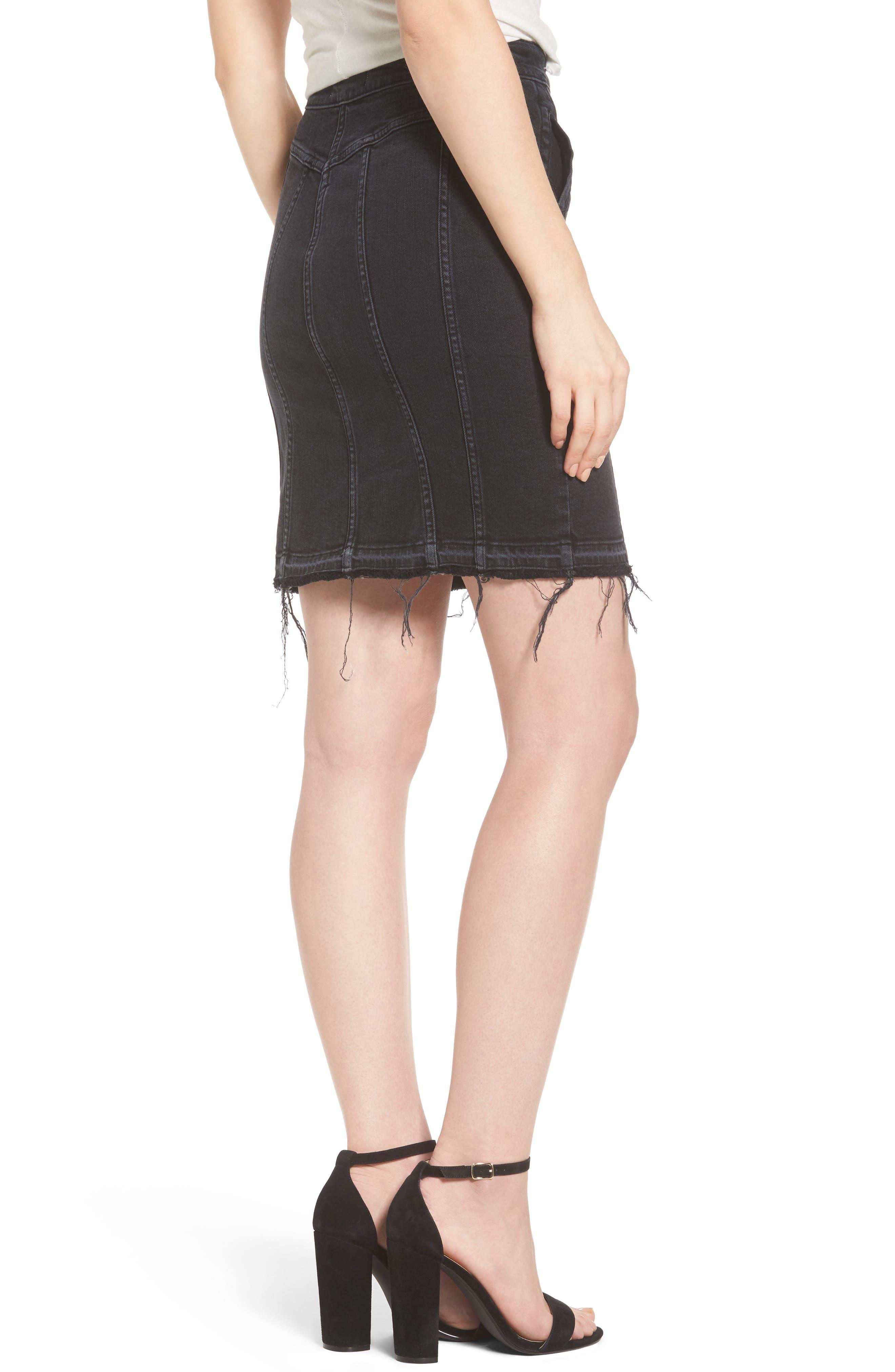 Alternate Image 2  - DL1961 Poppy Denim Miniskirt