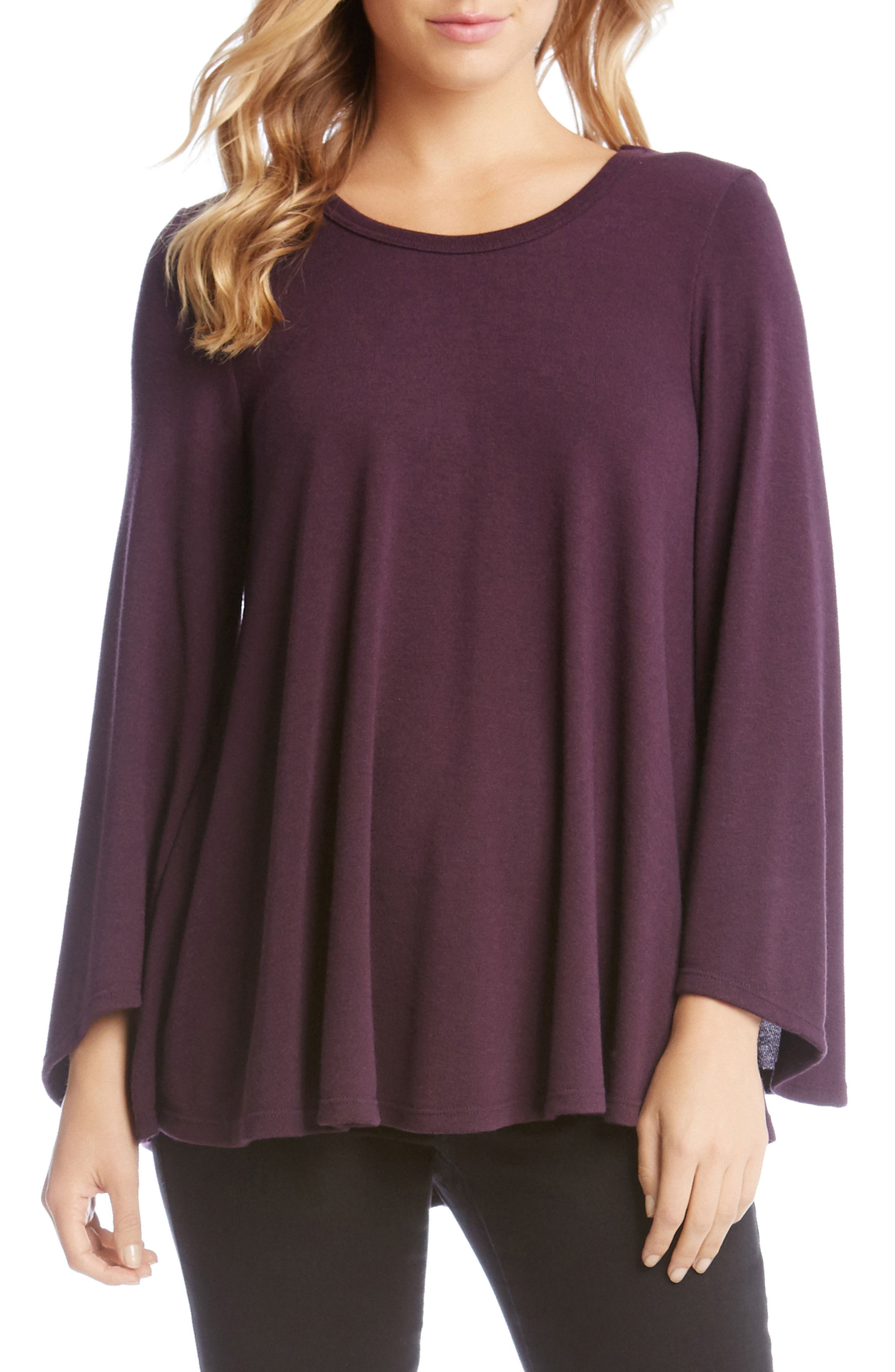 KAREN KANE Bell Sleeve Swing Sweater