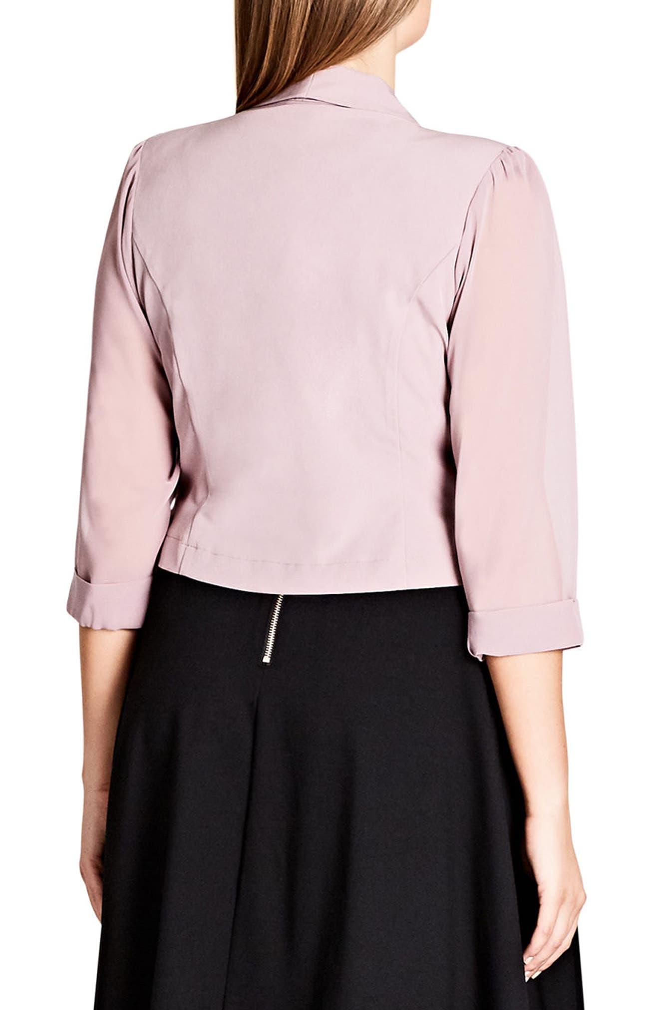Alternate Image 2  - City Chic Crop Blazer (Plus Size)