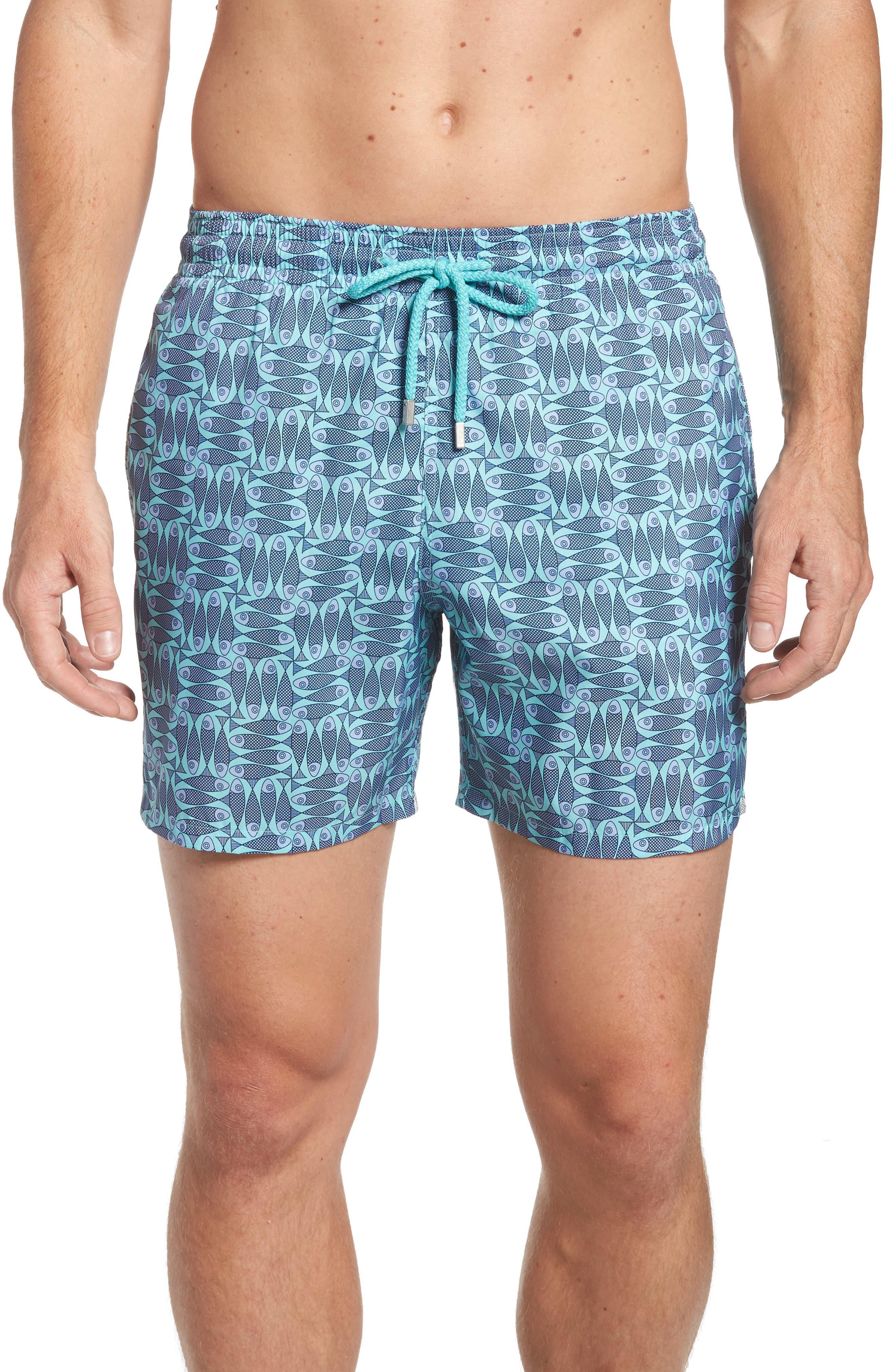 Mahina Packable Swim Trunks,                         Main,                         color, Lagoon