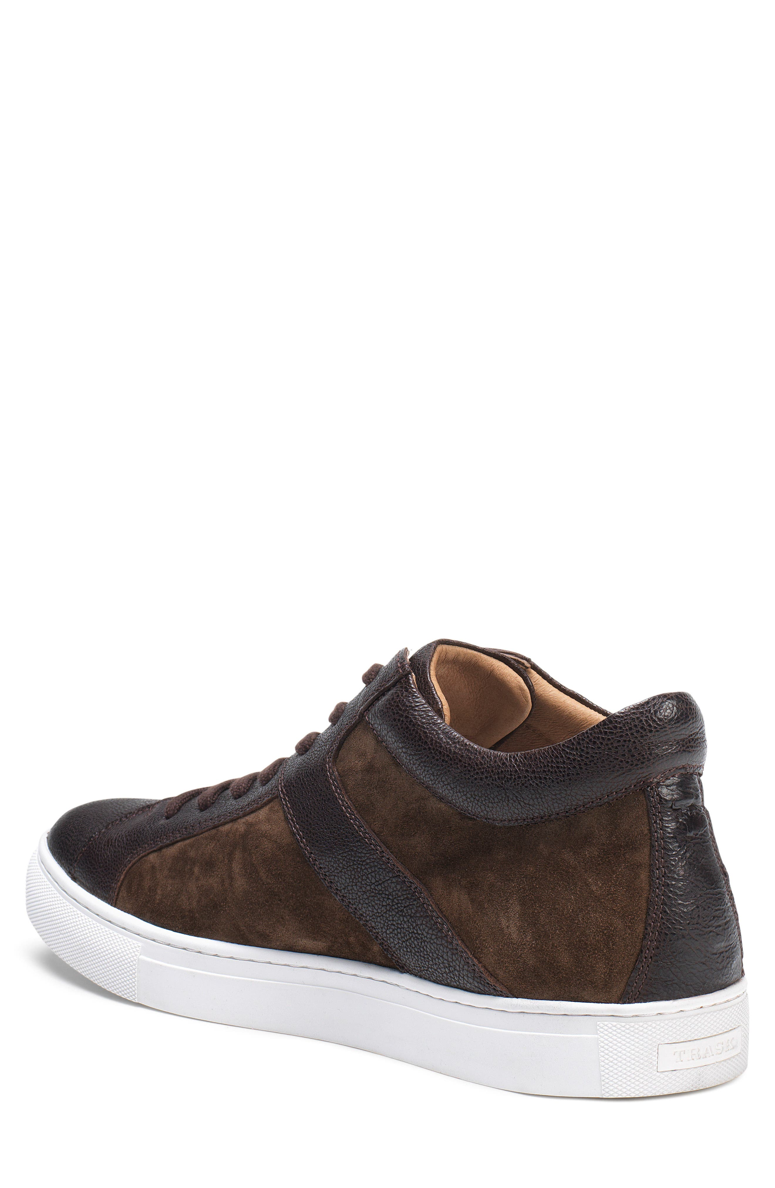 Alec Sneaker,                             Alternate thumbnail 2, color,                             Dark Brown Leather/Suede
