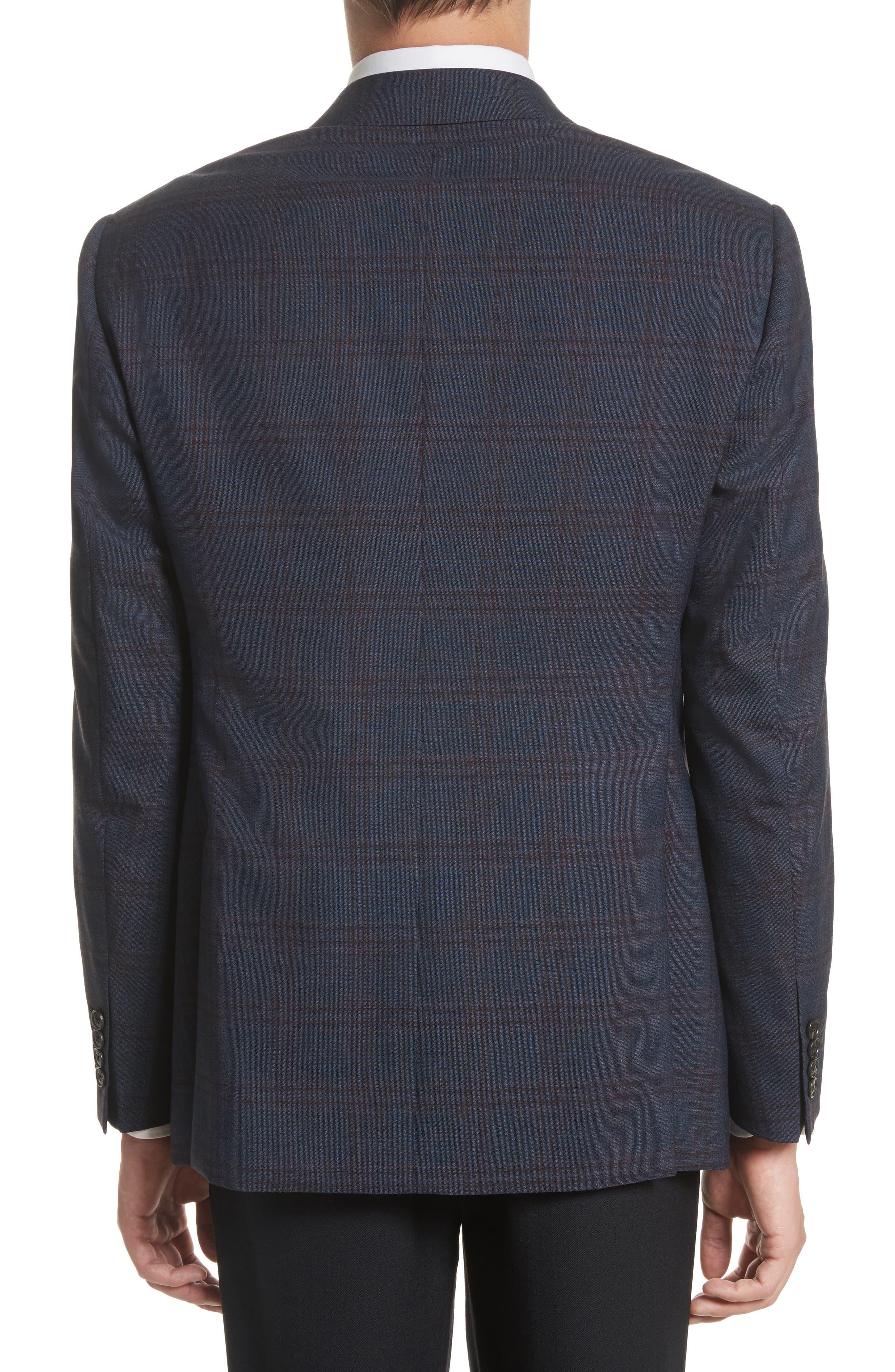 Alternate Image 2  - Armani Collezioni G-Line Trim Fit Plaid Wool Sport Coat