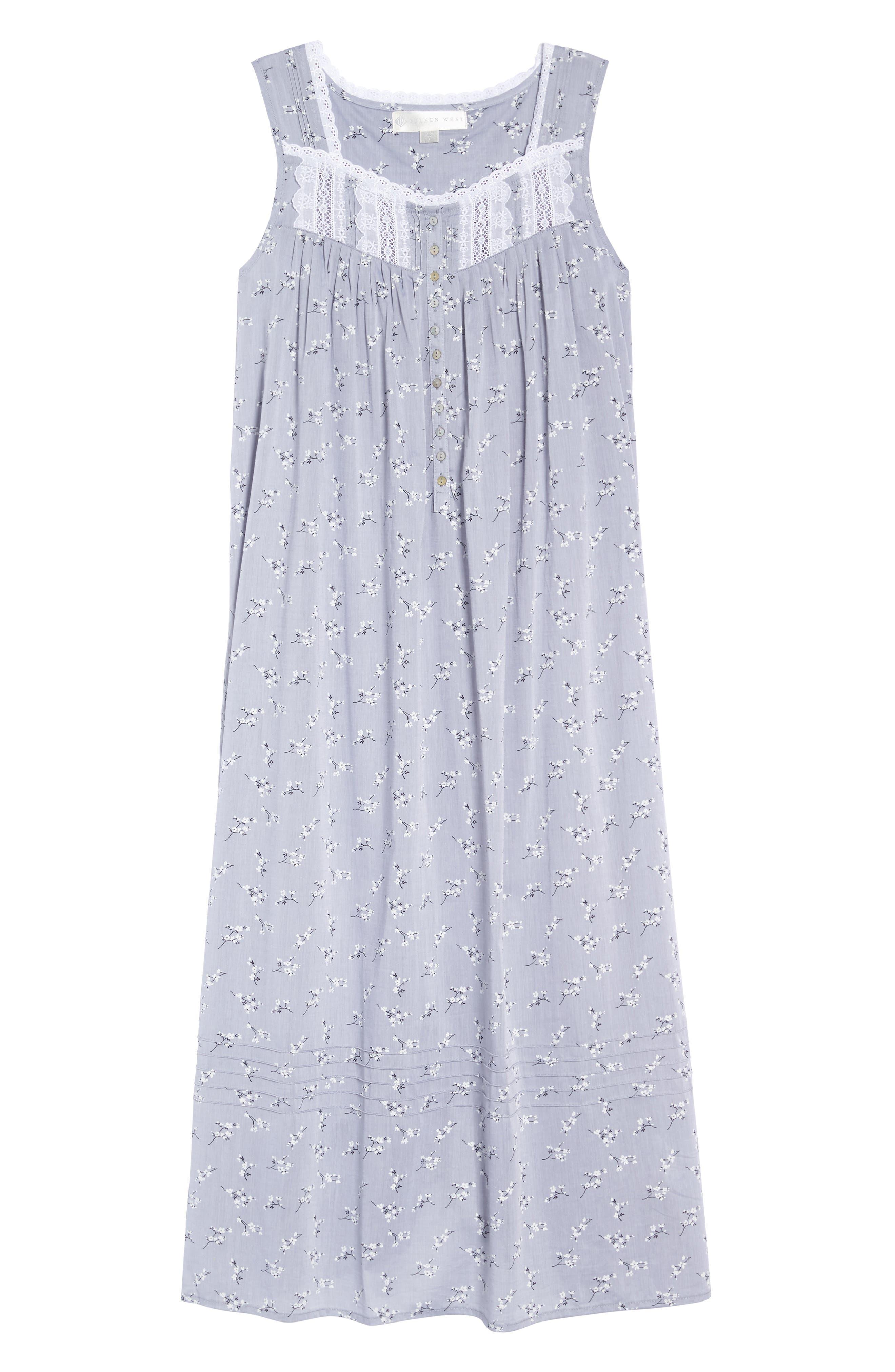 Pintuck Ballet Nightgown,                             Alternate thumbnail 4, color,                             Grey