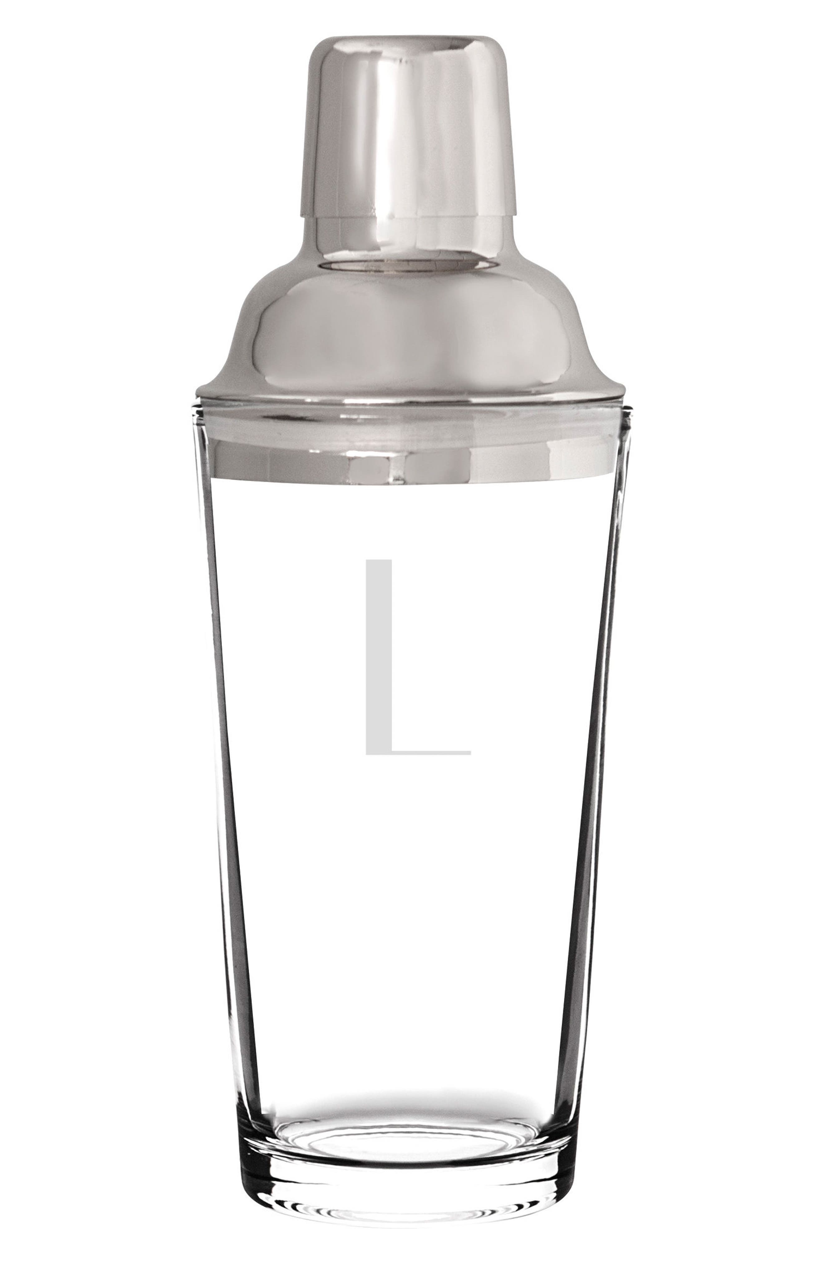 Cathy's Concepts Monogram Stainless Steel Cocktail Shaker