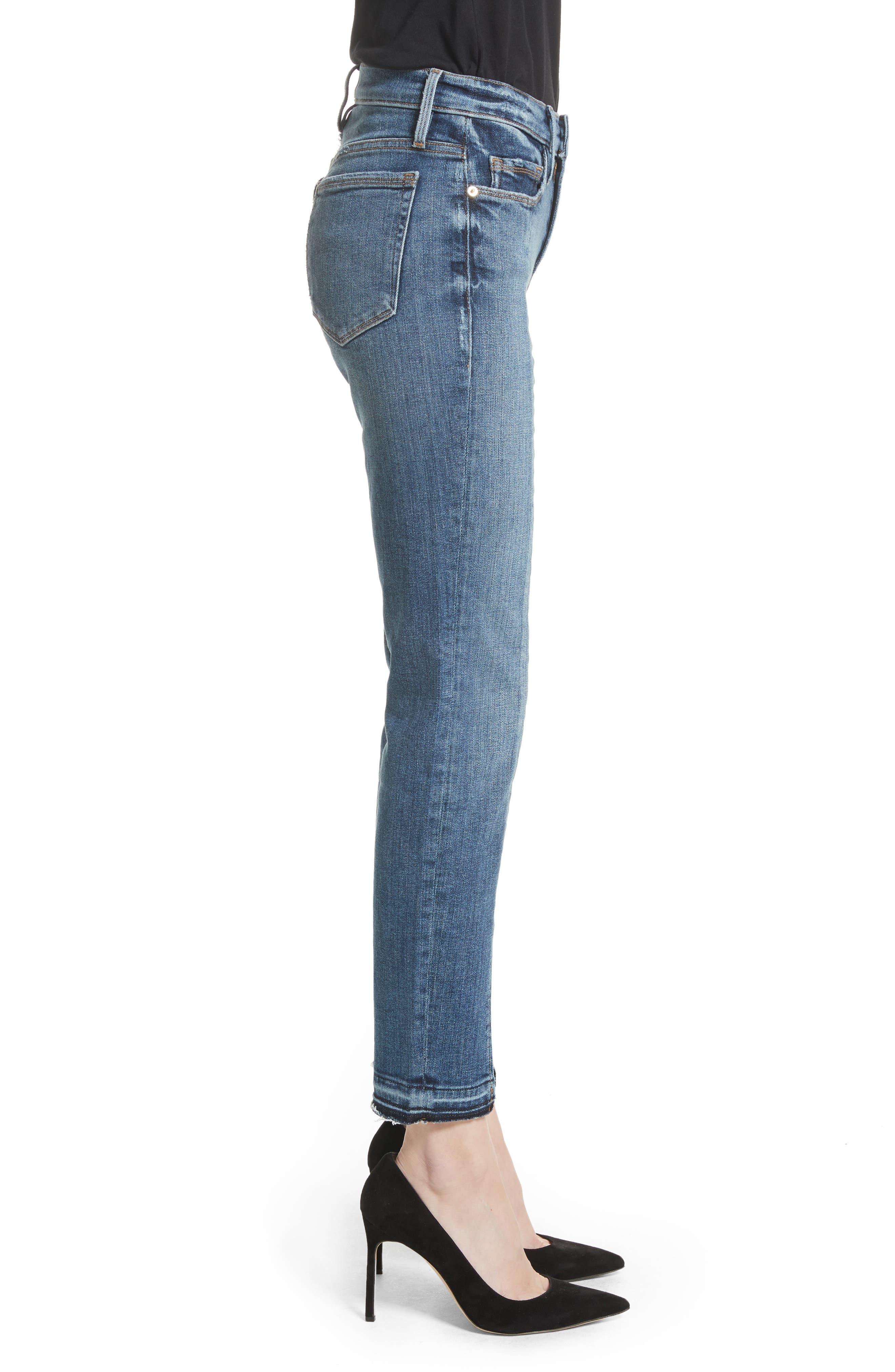 Alternate Image 4  - FRAME Le Nouveau Split Hem Jeans (Sheffield) (Nordstrom Exclusive)