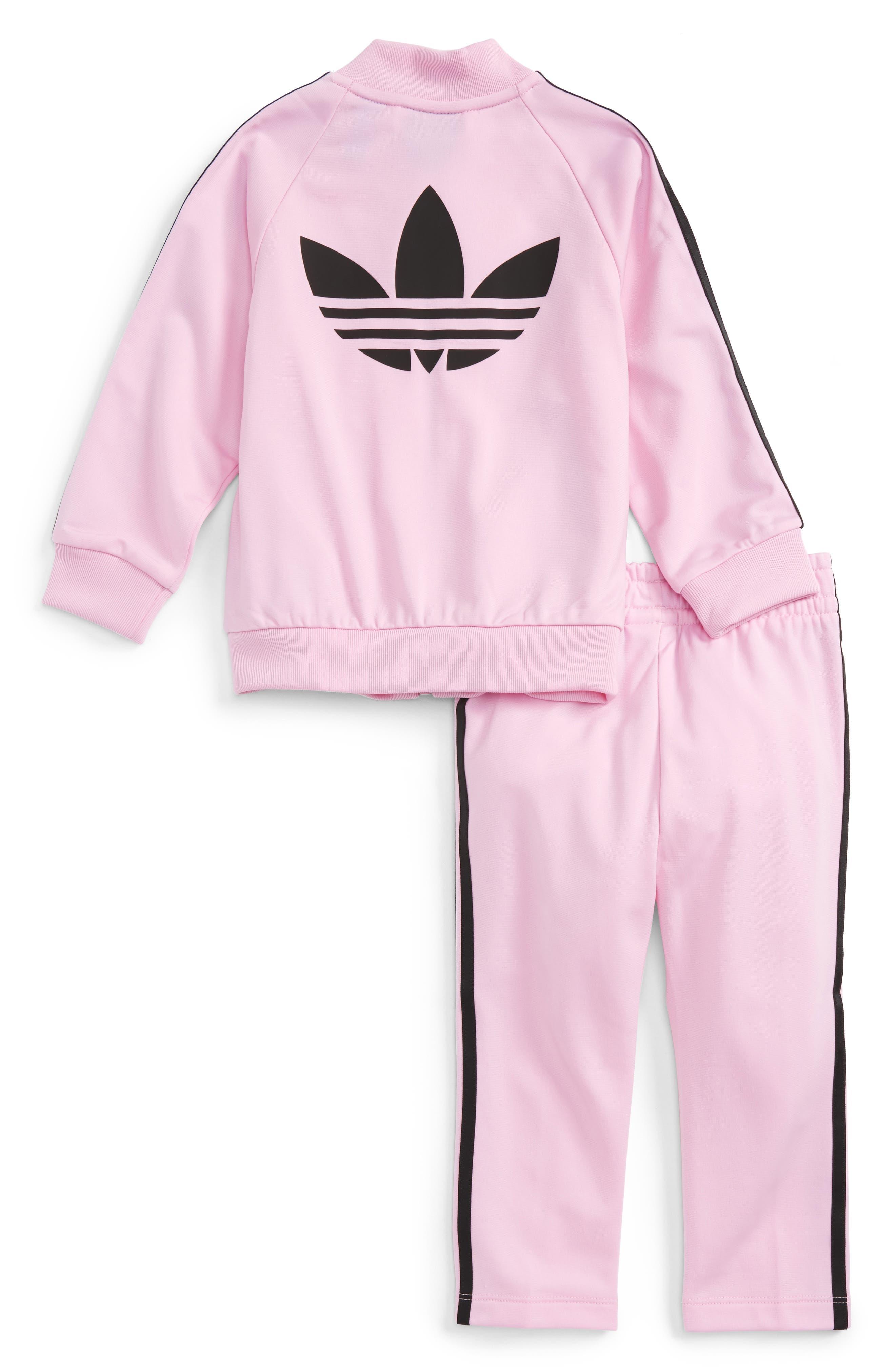 Alternate Image 2  - adidas Originals Track Jacket & Athletic Pants Set (Baby Girls)