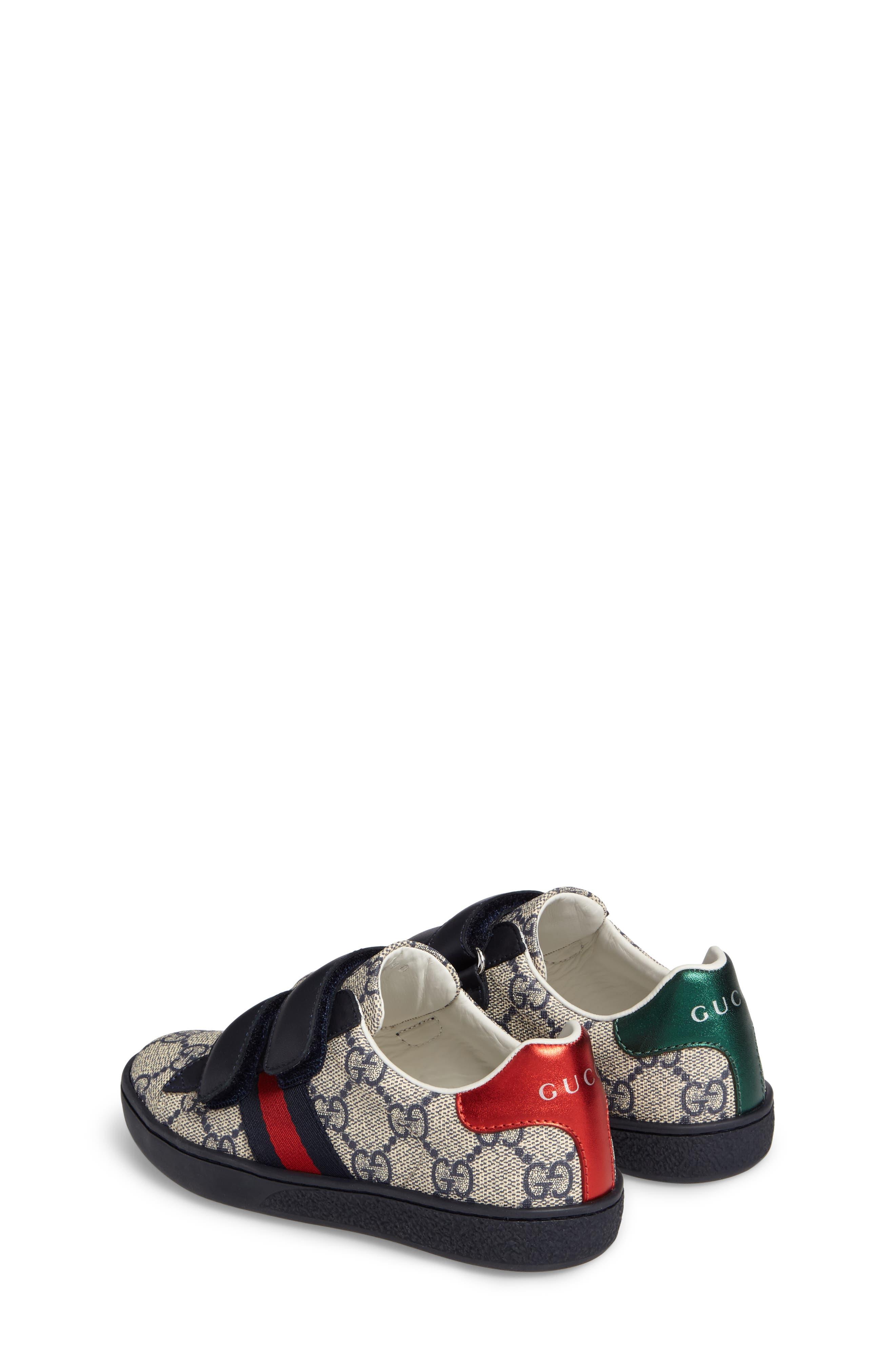 New Ace Monogram Sneaker,                             Alternate thumbnail 3, color,                             Beige/ Blue