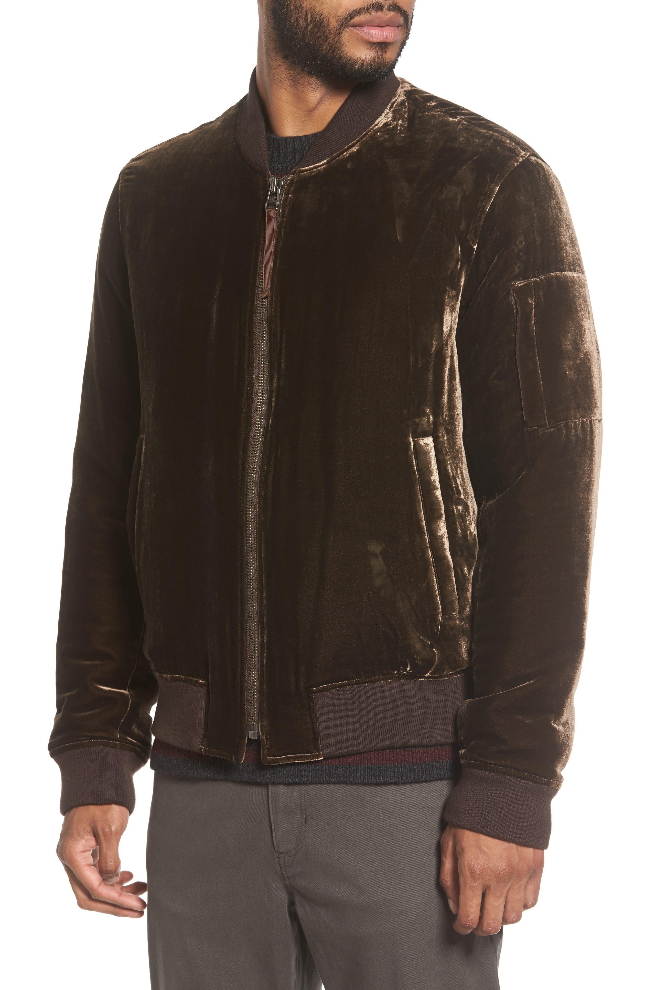 Alternate Image 4  - Vince Velvet Bomber Jacket