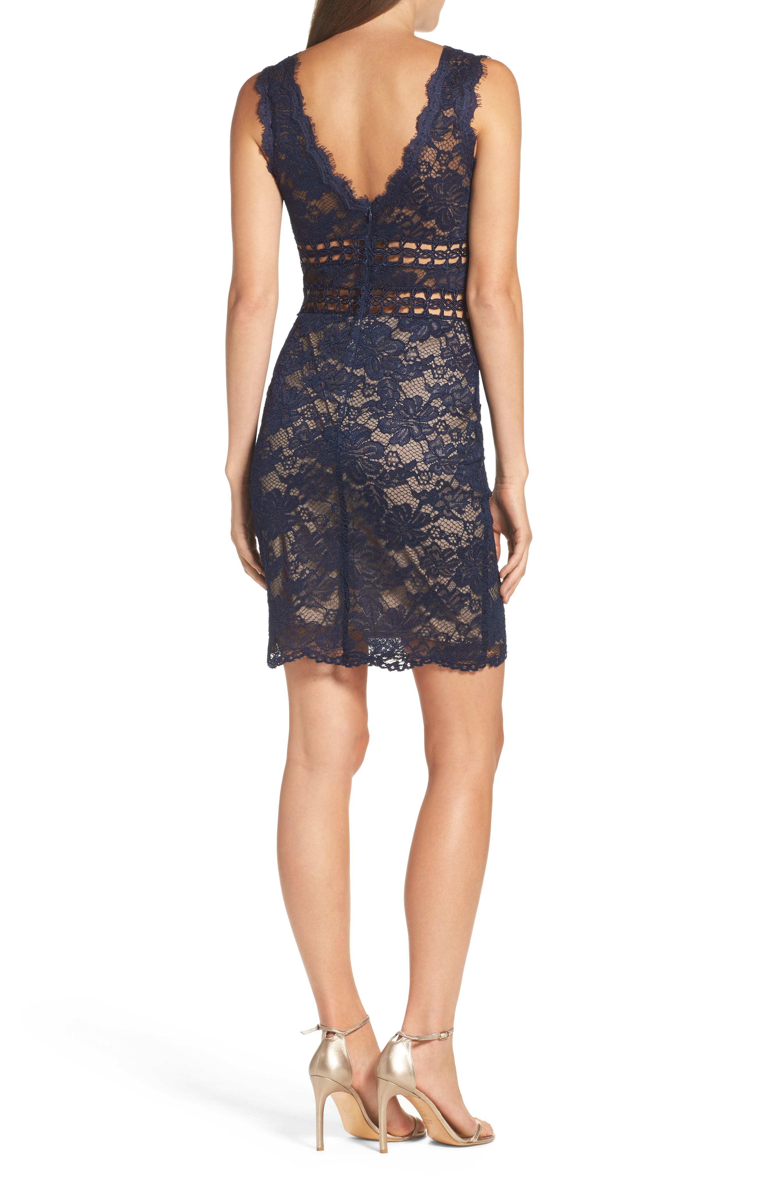 Alternate Image 2  - Xscape Lace Body-Con Dress