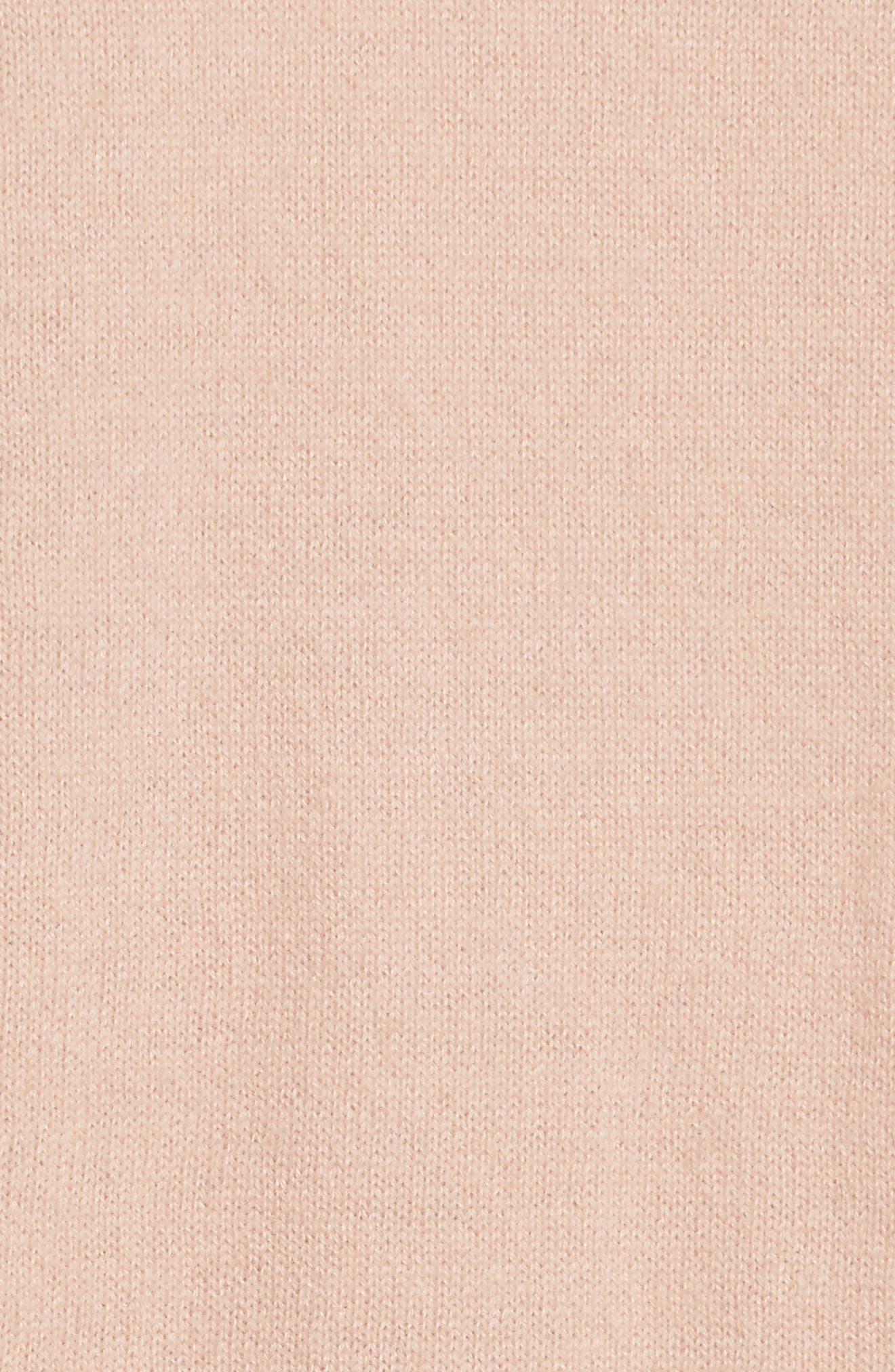 Gia Cashmere Button Cardigan,                             Alternate thumbnail 5, color,                             Nude