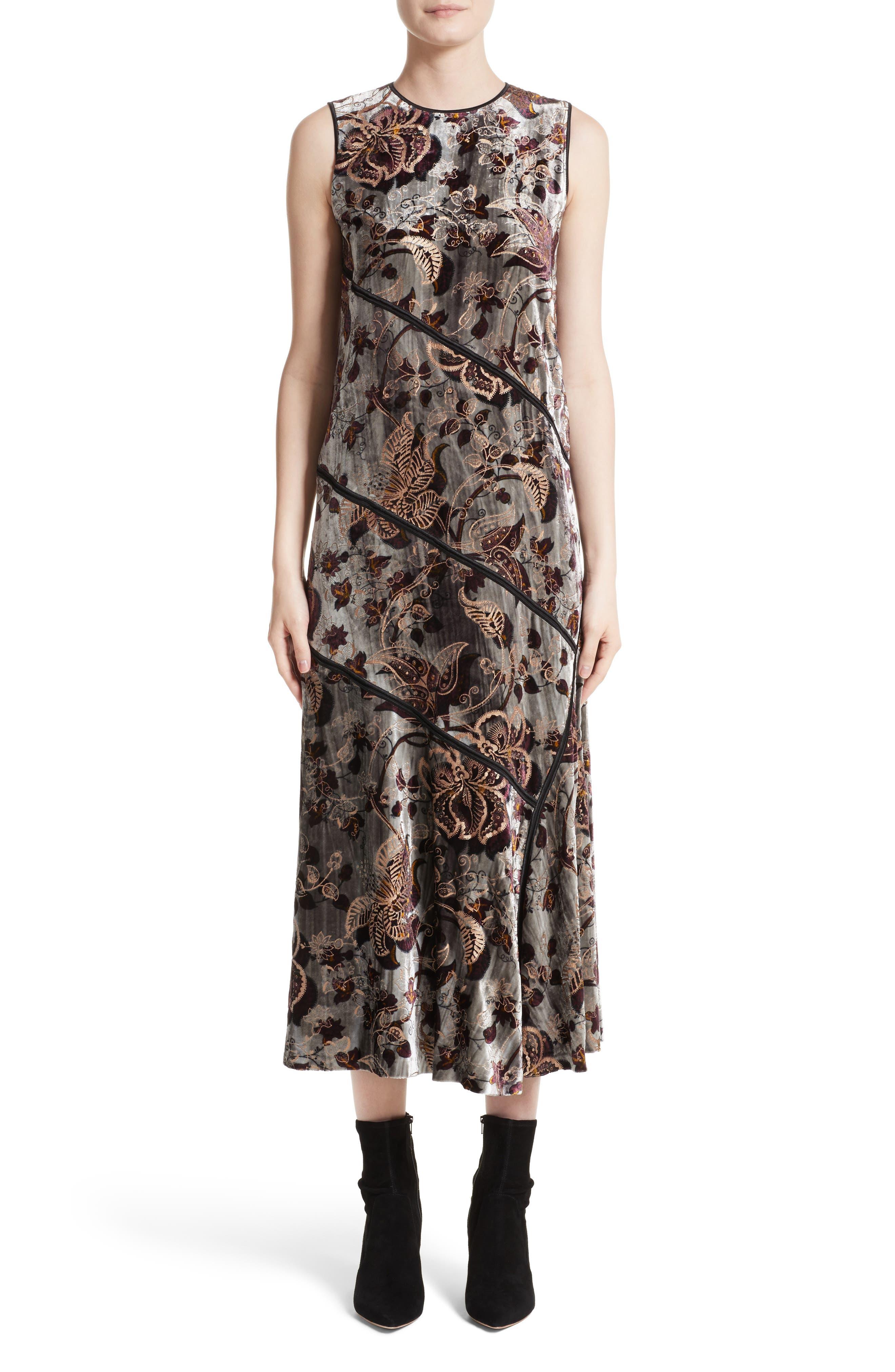 Lafayette 148 New York Melissa Opulent Garden Velvet Dress