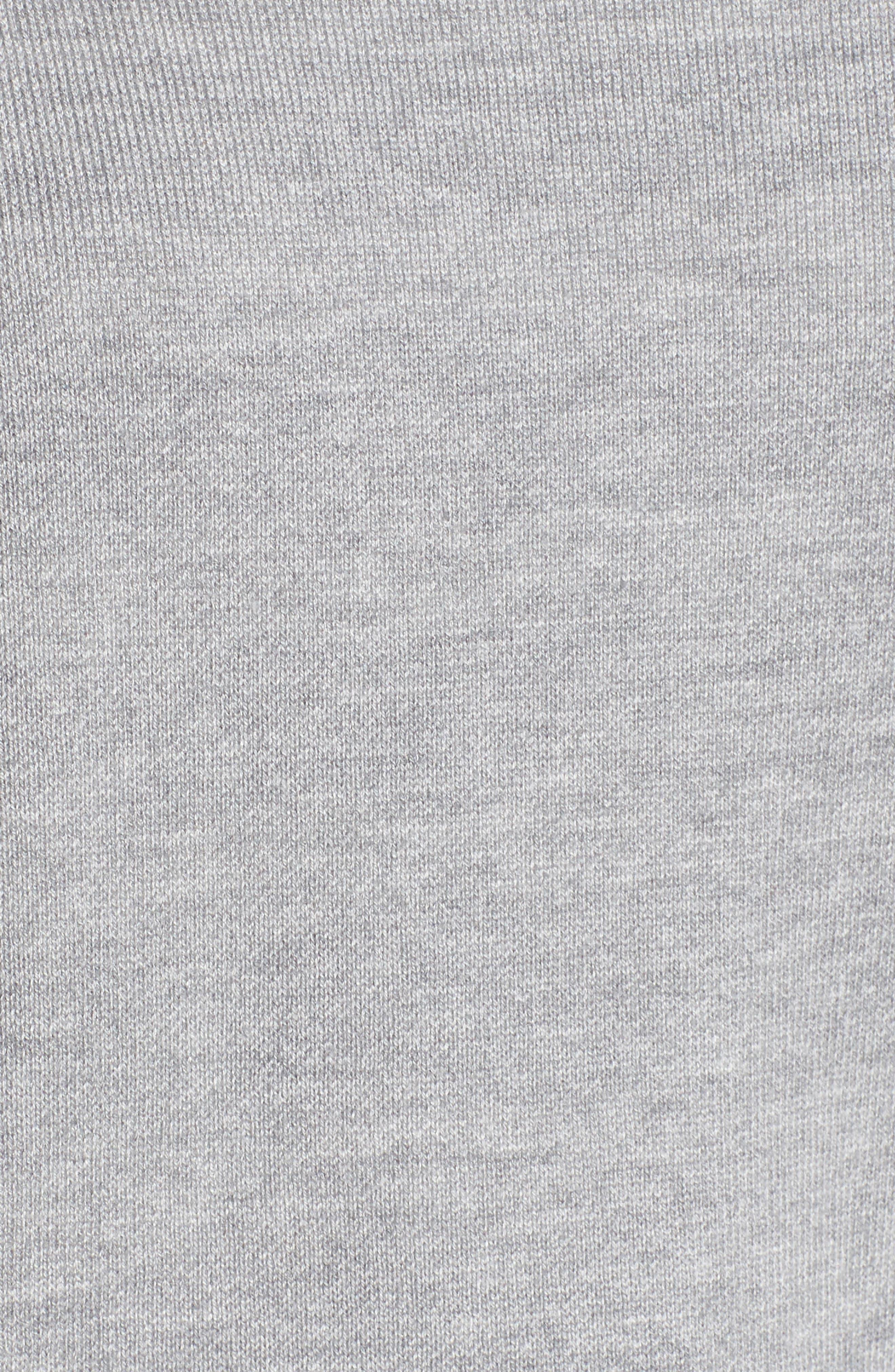 Devon Crossback Sweater,                             Alternate thumbnail 5, color,                             Light Heather Grey