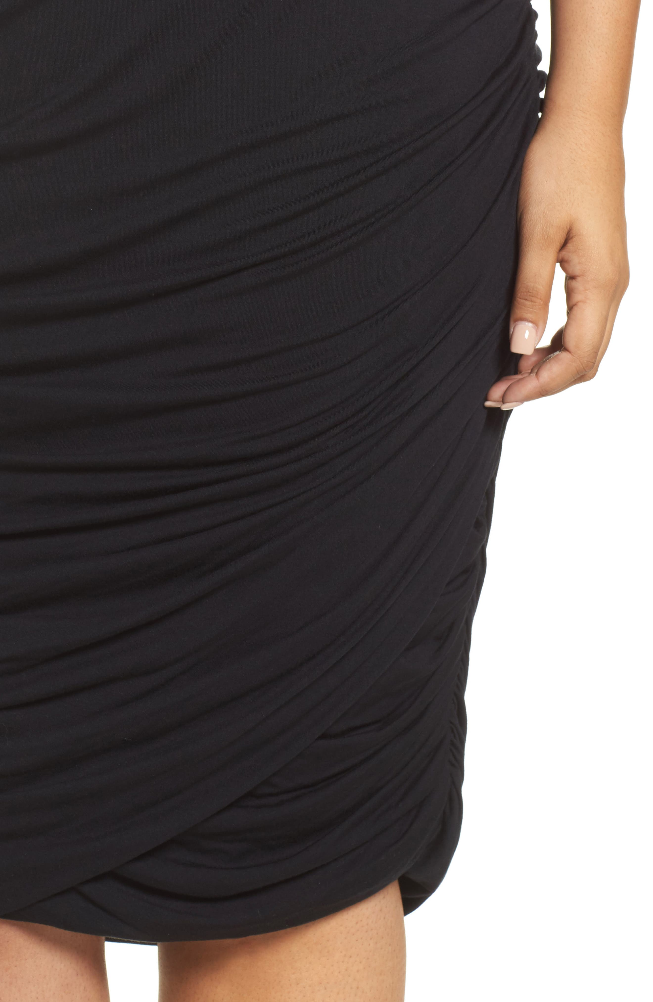 Alternate Image 4  - REBEL WILSON X ANGELS Ruched Jersey Knit Skirt (Plus Size)
