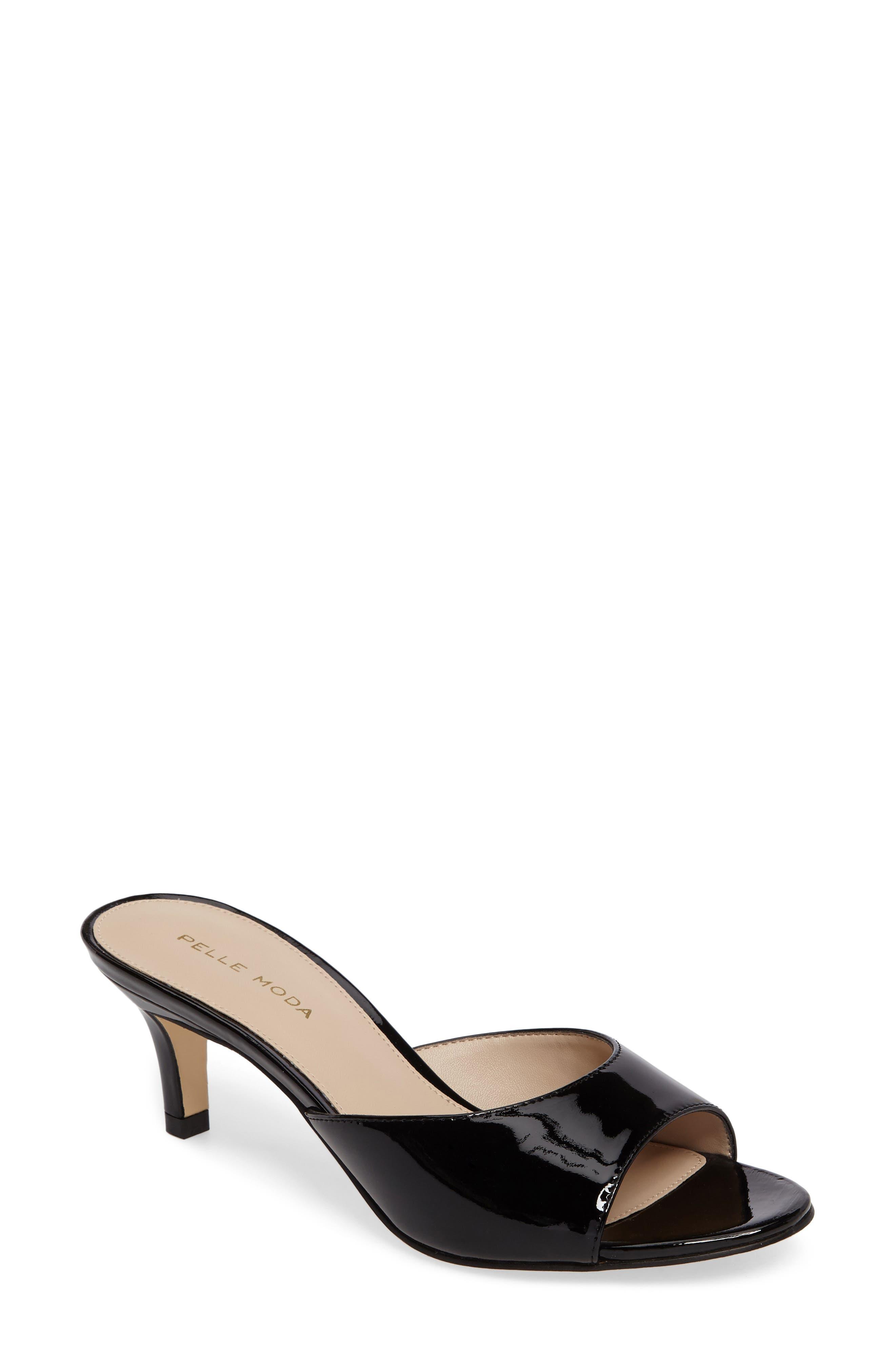 Bex Kitten Heel Slide,                         Main,                         color, Black