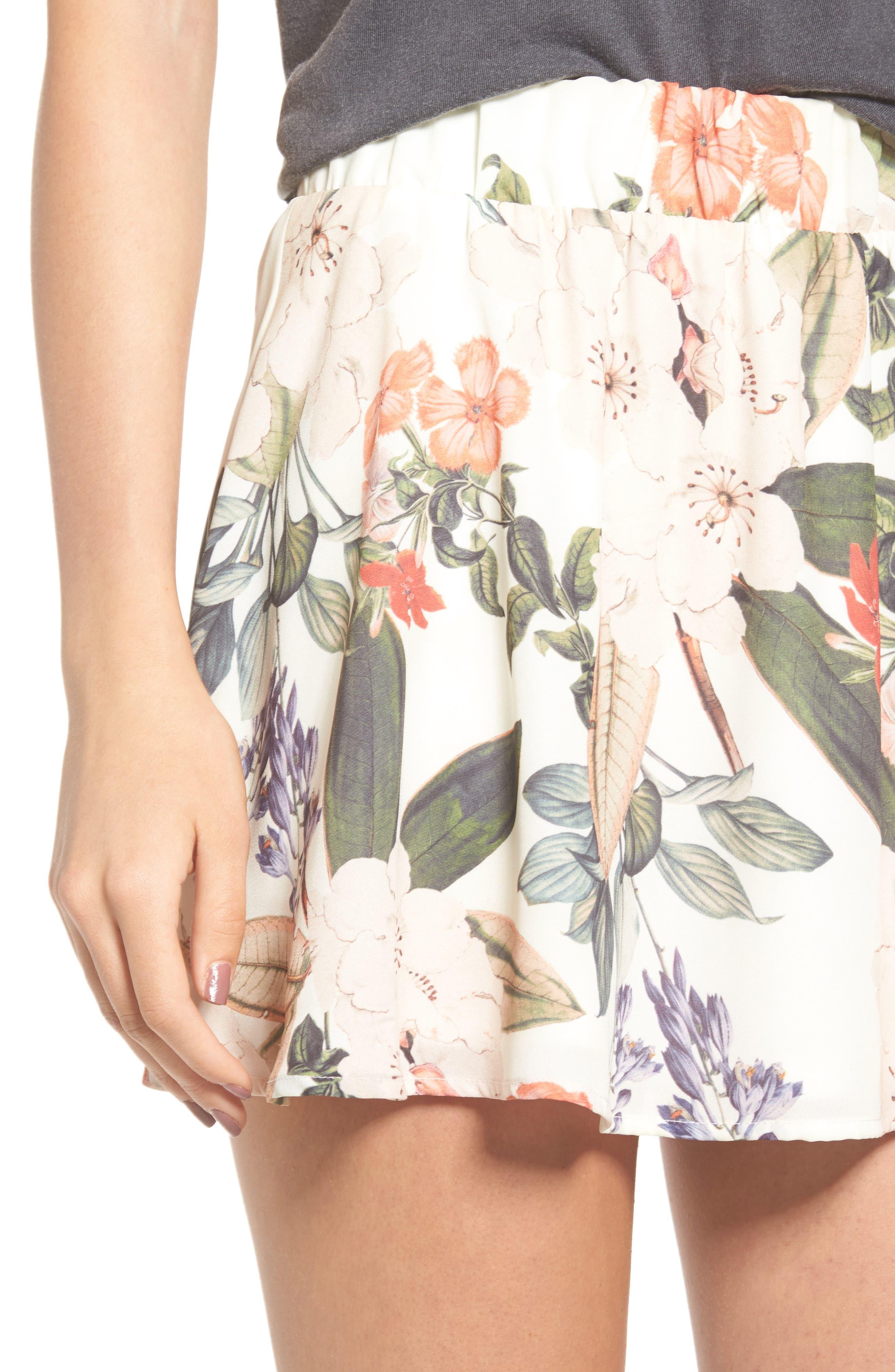 Carlita Miniskirt,                             Alternate thumbnail 4, color,                             Enchanted Florist